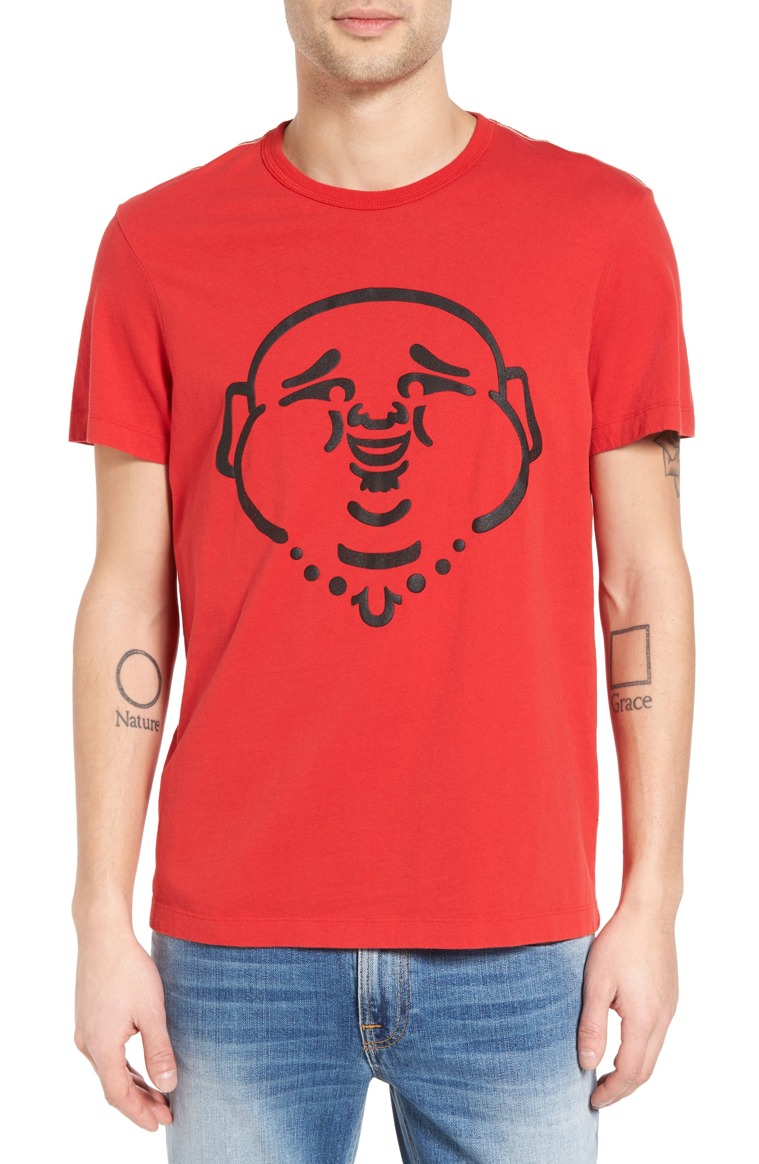 TRUE RELIGION BRAND JEANS Buddha Graphic T-Shirt