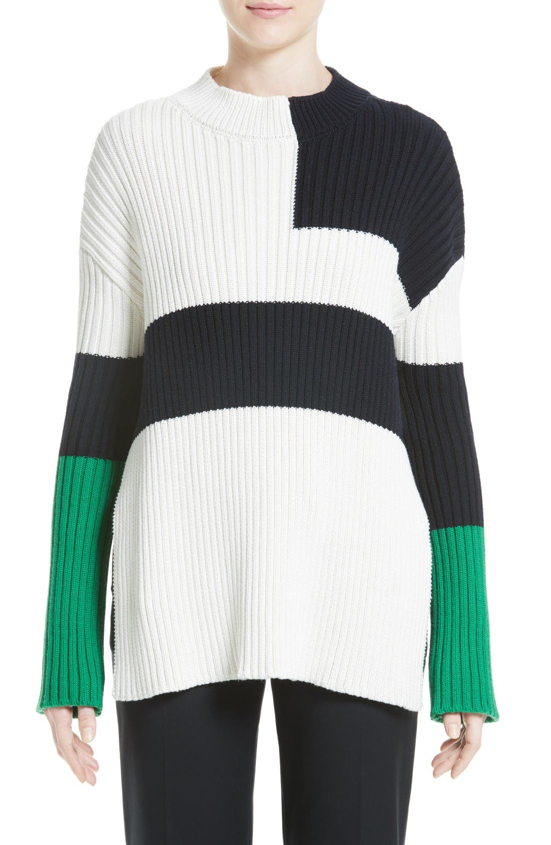 STELLA MCCARTNEY Cotton, Silk & Wool Knit Sweater