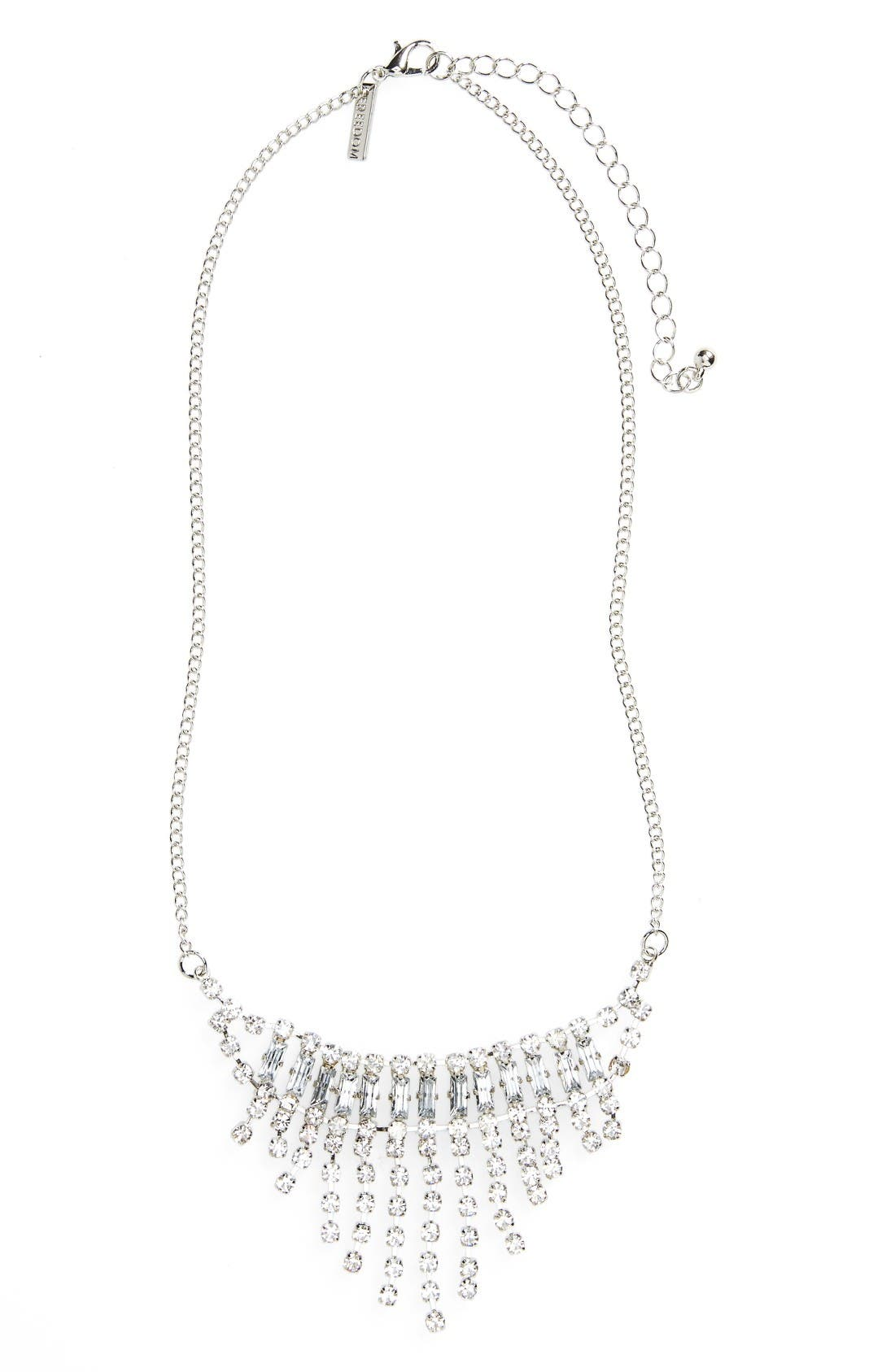 TOPSHOP Crystal Chain Necklace