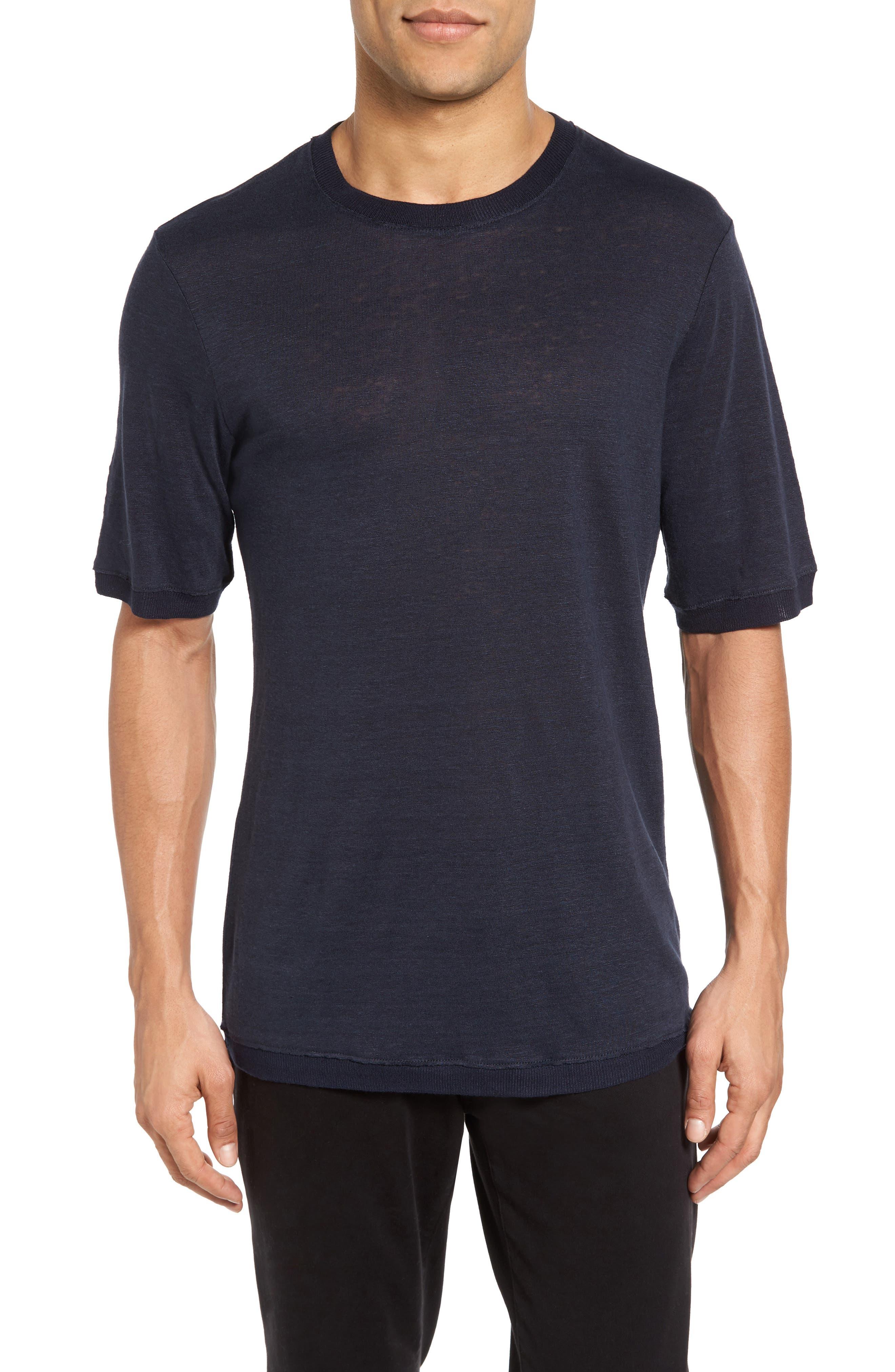 Vince Sweater Trim T-Shirt