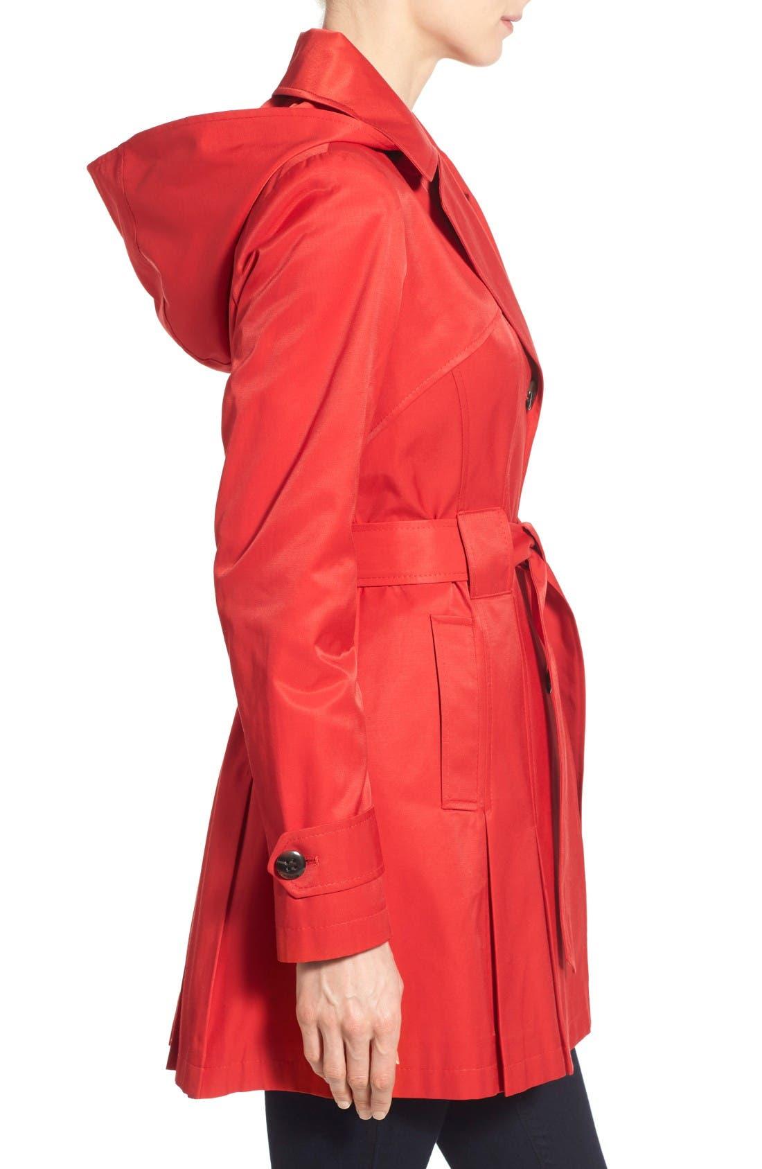 Alternate Image 4  - Via Spiga 'Scarpa' Hooded Single Breasted Trench Coat (Regular & Petite)