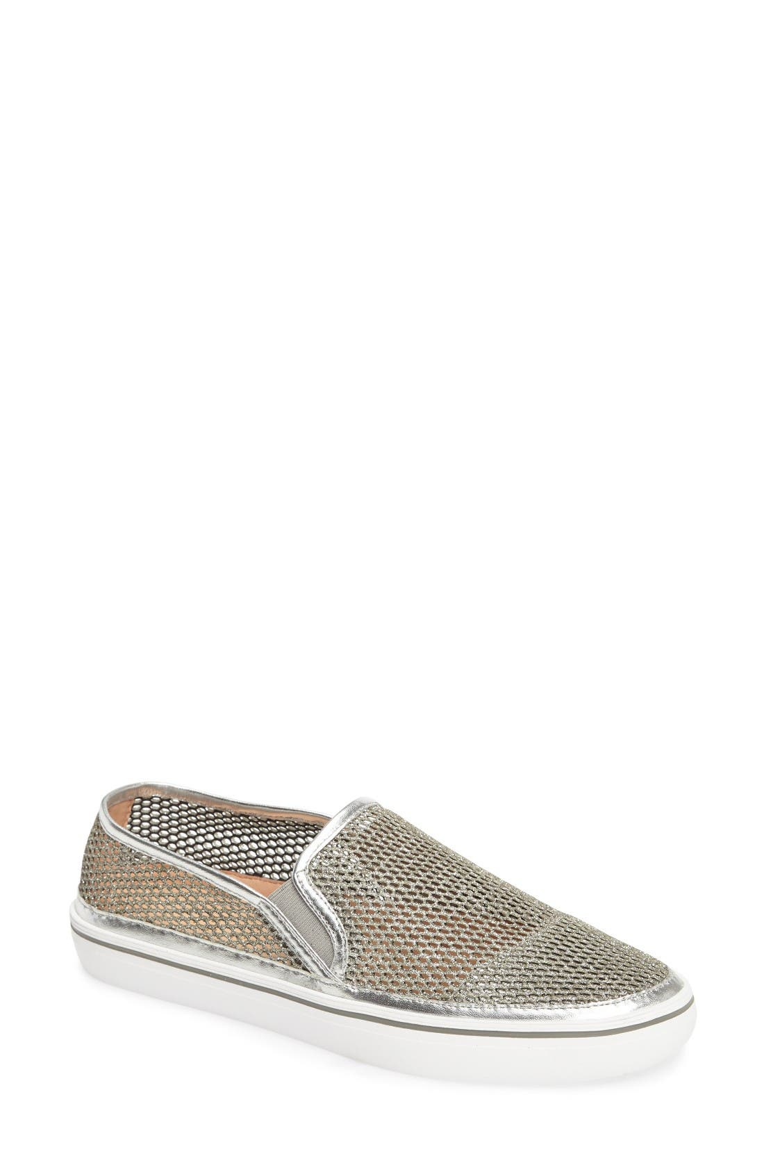 KATE SPADE NEW YORK sallie metallic mesh slip-on