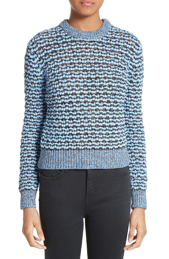 Carven Open Knit Sweater Nordstrom