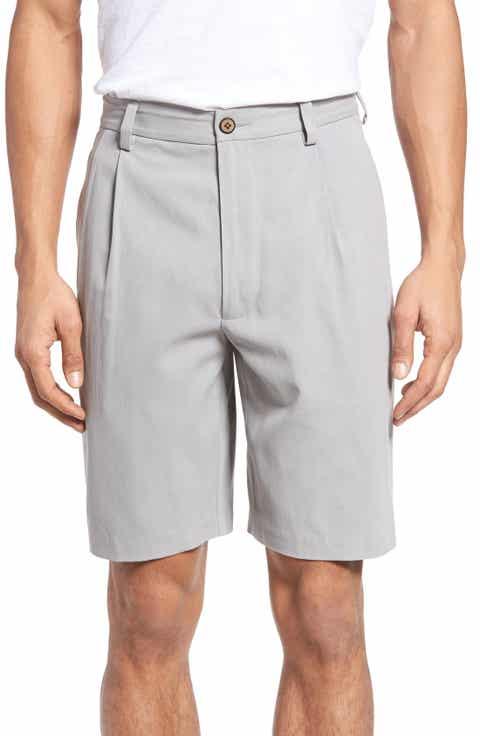 Tommy Bahama 'St. Thomas' Pleated Shorts (Big   Tall)