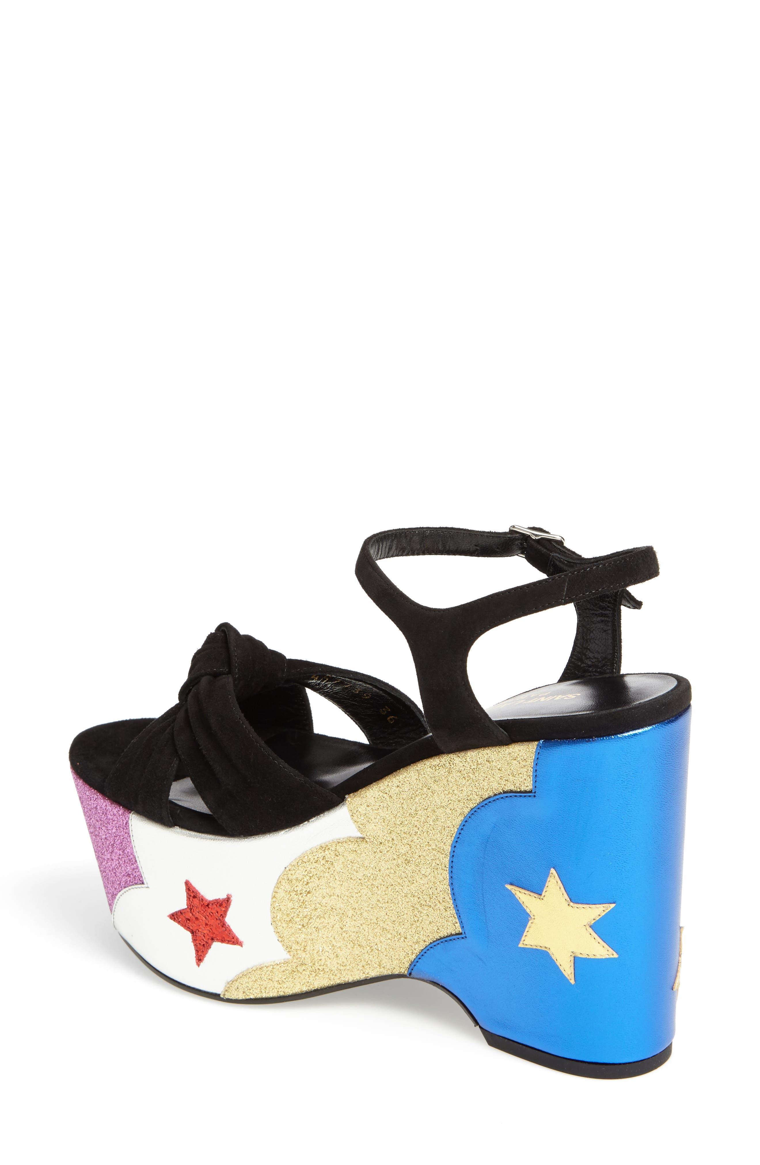Alternate Image 2  - Saint Laurent Candy Platform Sandal (Women)