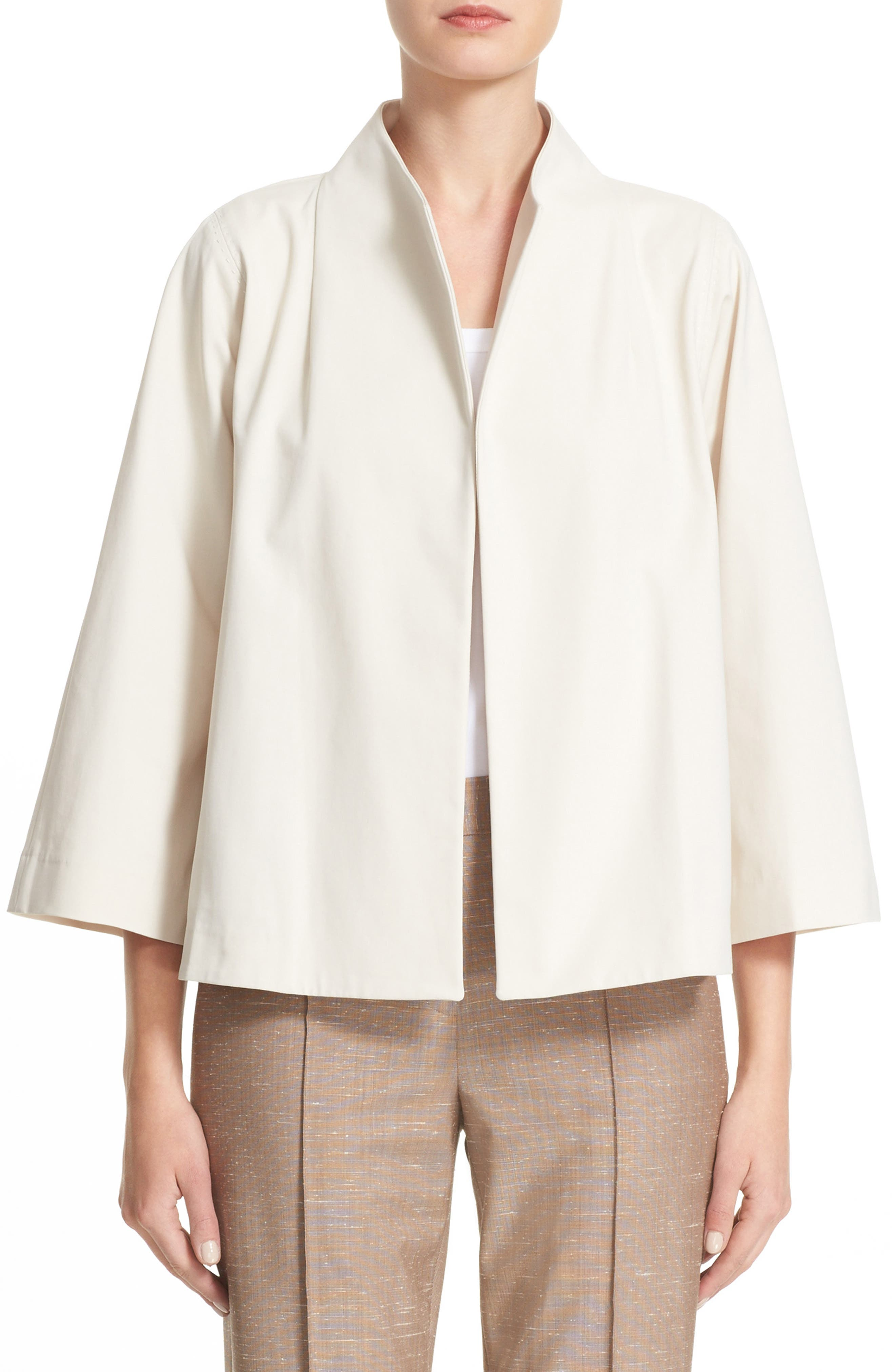 Lafayette 148 New York Kirby Funnel Neck Jacket