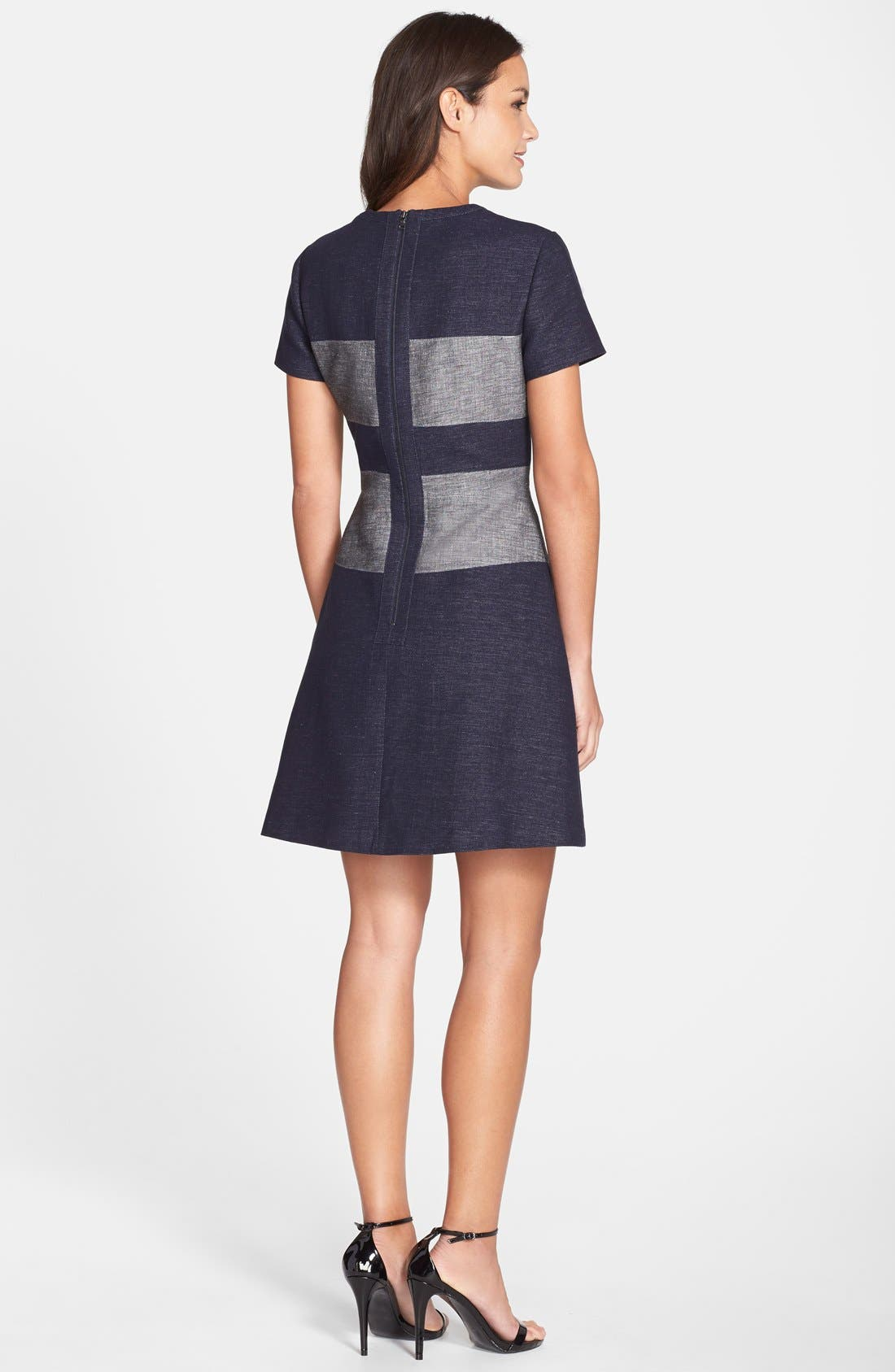 Alternate Image 2  - BCBGMAXAZRIA 'Romee' Stripe Fit & Flare Dress