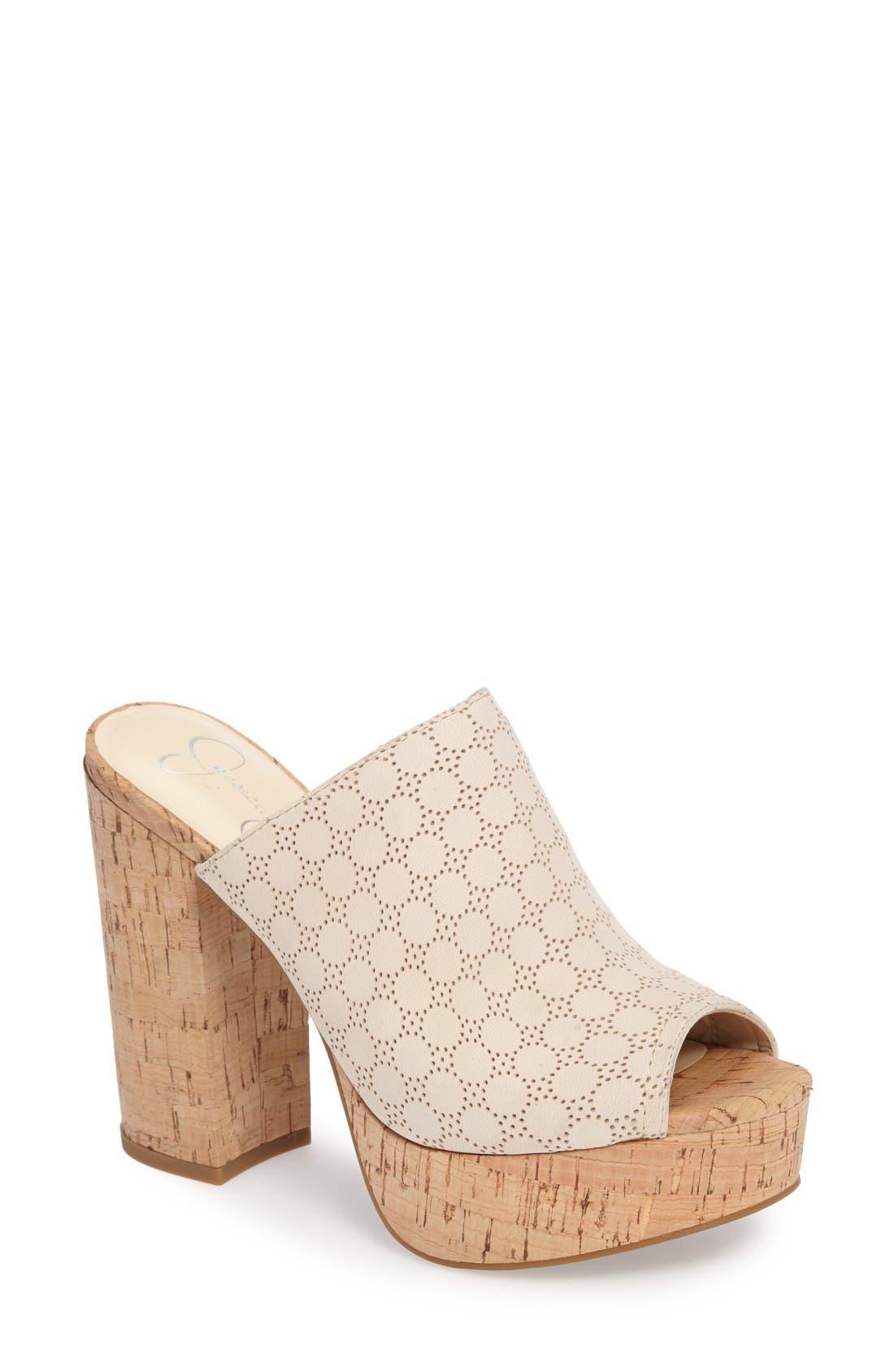 Jessica Simpson Giavanna Open Toe Platform Slide (Women)