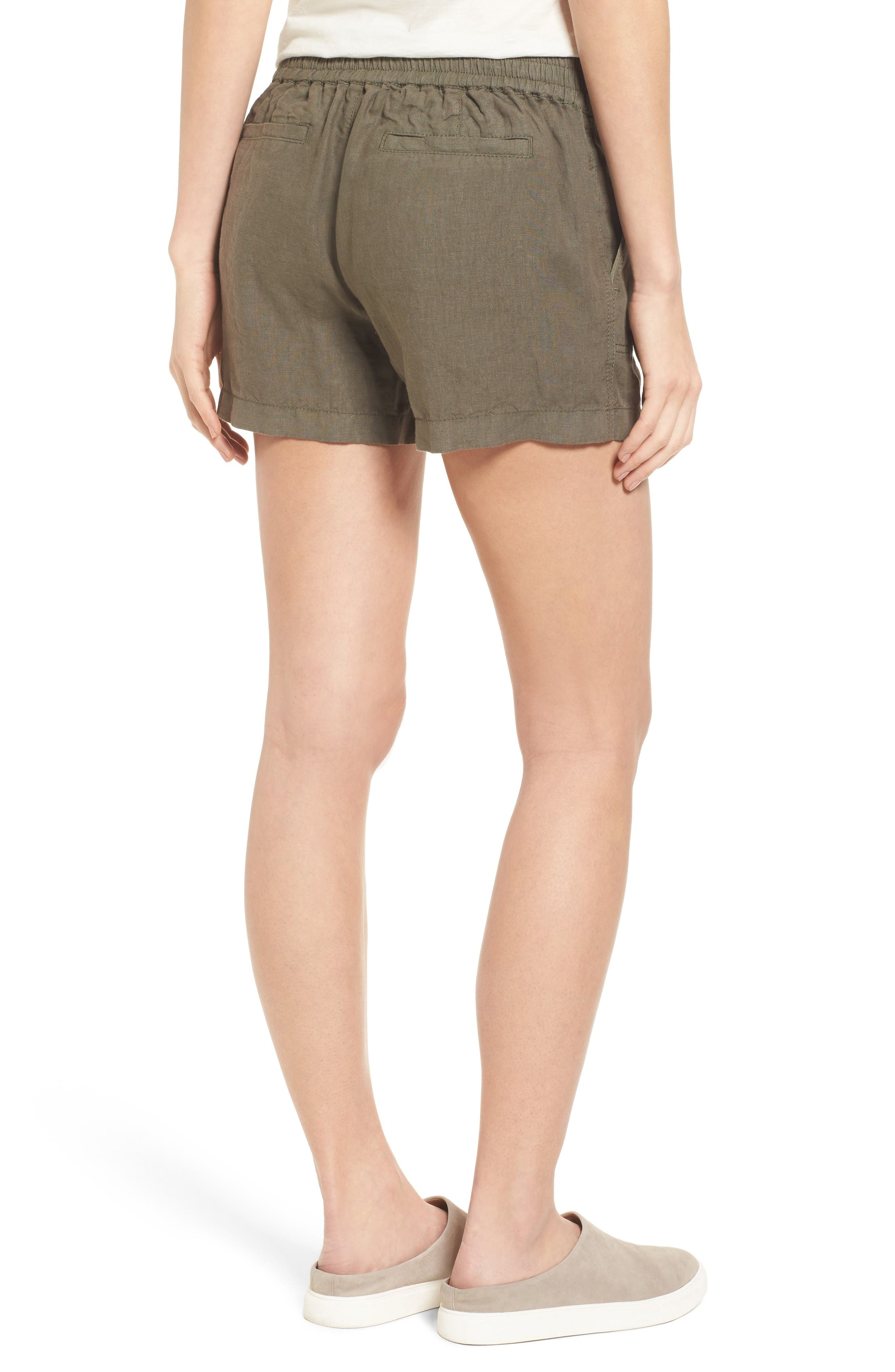 Alternate Image 2  - Caslon® Drawstring Linen Shorts (Regular & Petite)