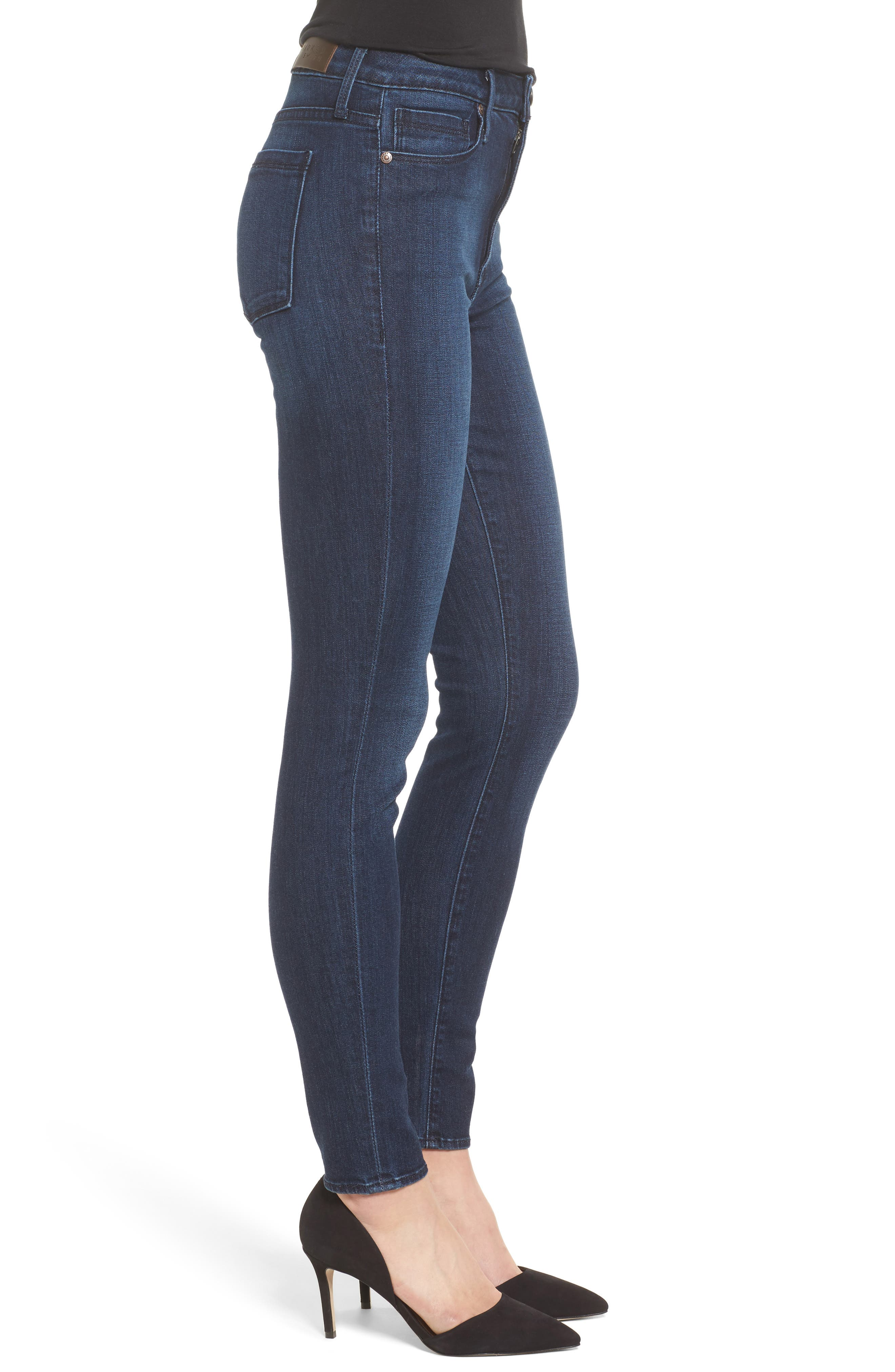 Alternate Image 3  - PARKER SMITH Bombshell High Waist Stretch Skinny Jeans (Baltic)