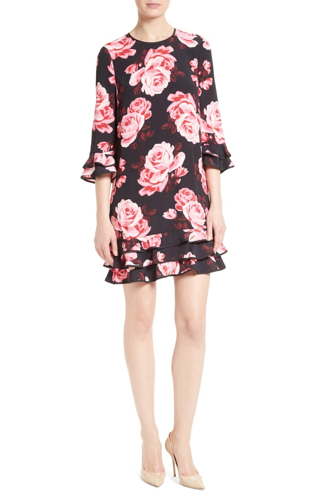 KATE SPADE NEW YORK rosa ruffle shift dress