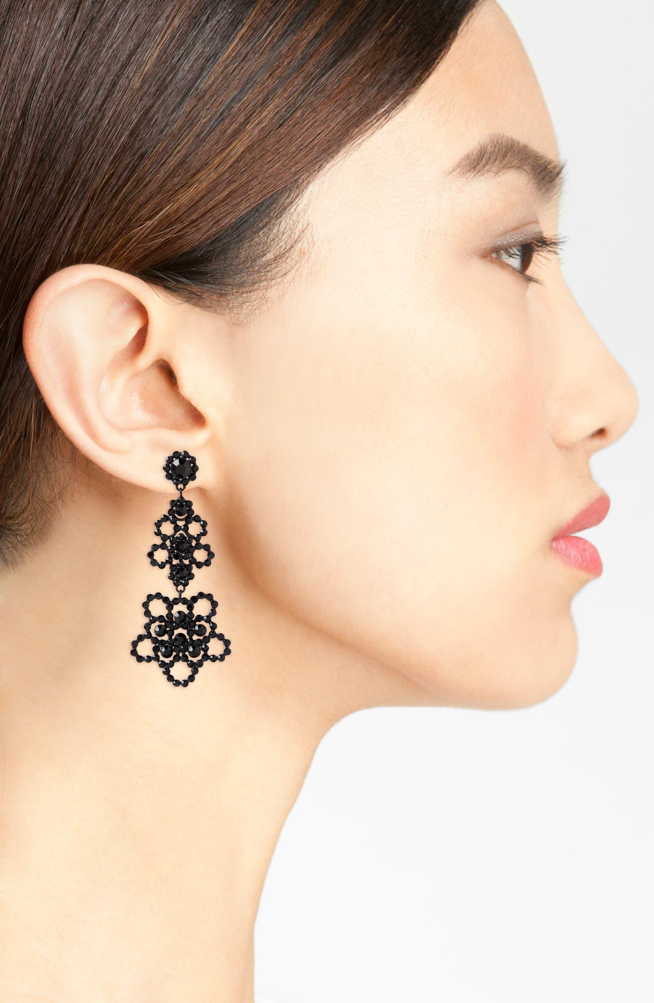 Alternate Image 2  - kate spade new york crystal lace drop earrings
