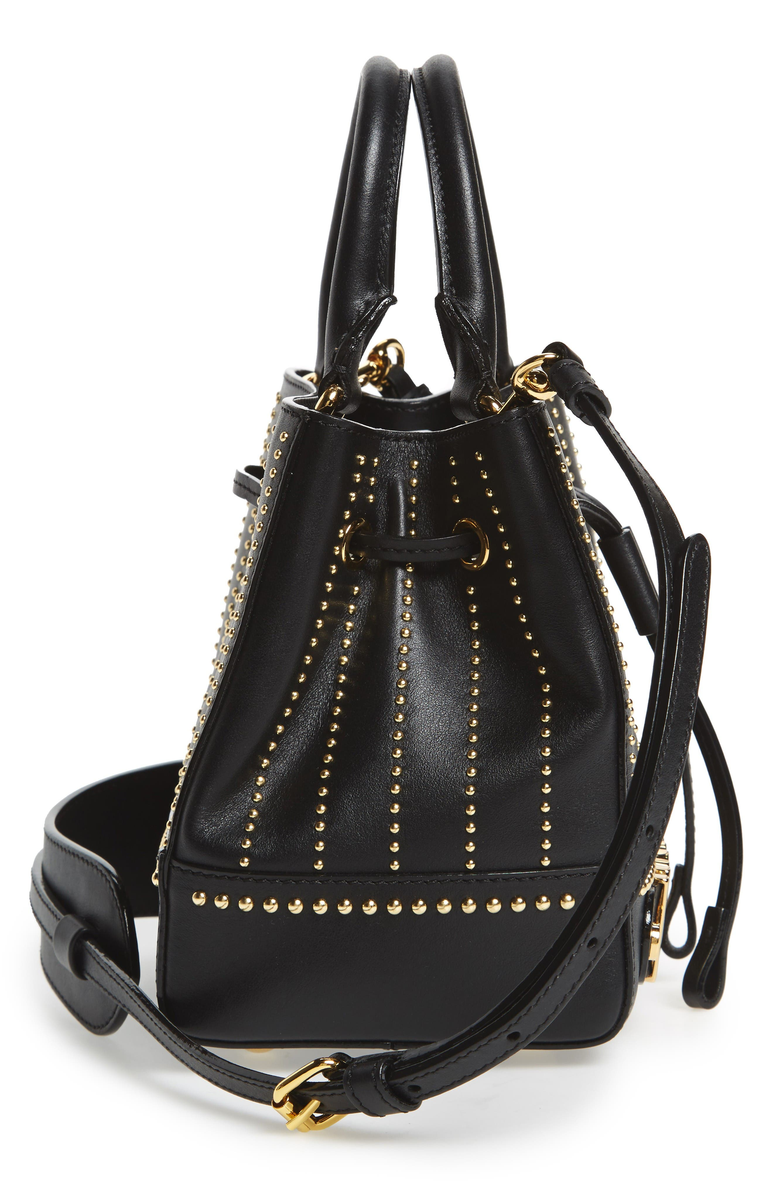 Alternate Image 5  - Moschino Studded Leather Bucket Bag