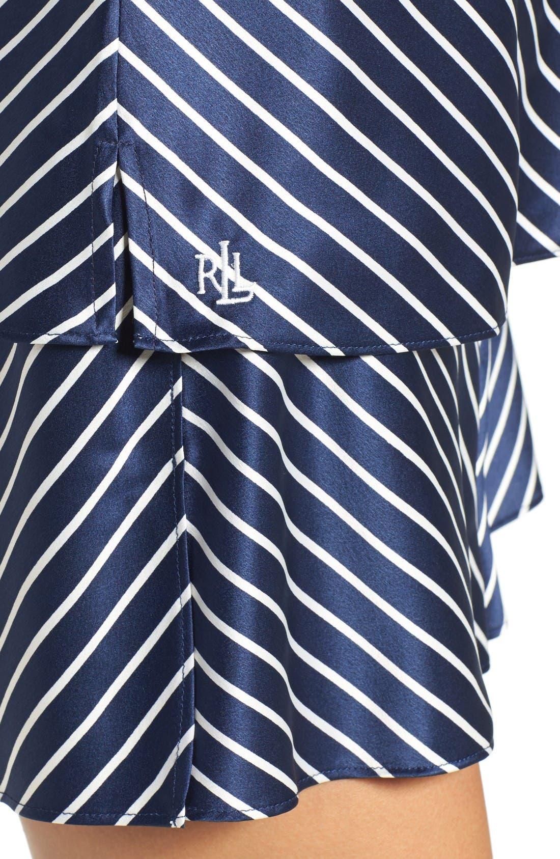 Alternate Image 4  - Lauren Ralph Lauren Stripe Satin Camisole Pajamas