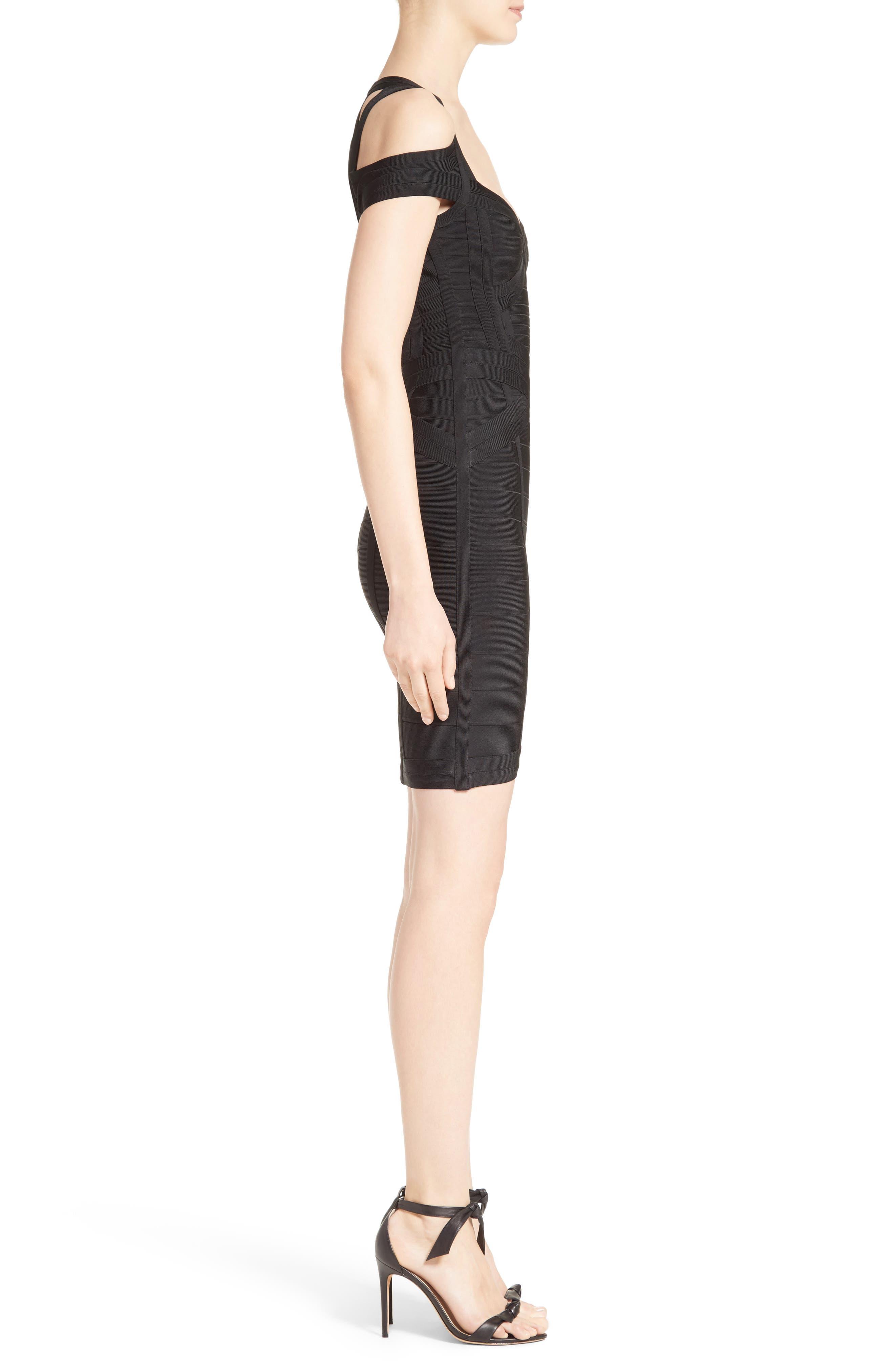 Alternate Image 5  - Herve Leger Cold Shoulder Bandage Dress