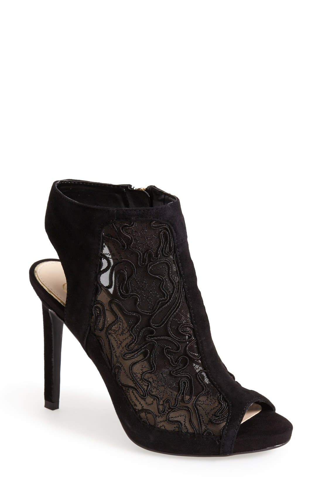 Alternate Image 1 Selected - Jessica Simpson 'Nynette' Open Toe Mesh Bootie (Women)