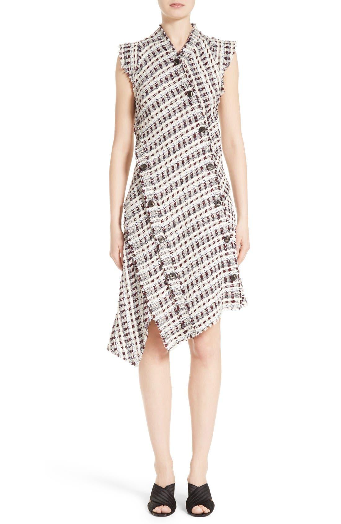 Main Image - Proenza Schouler Asymmetrical Tweed Dress