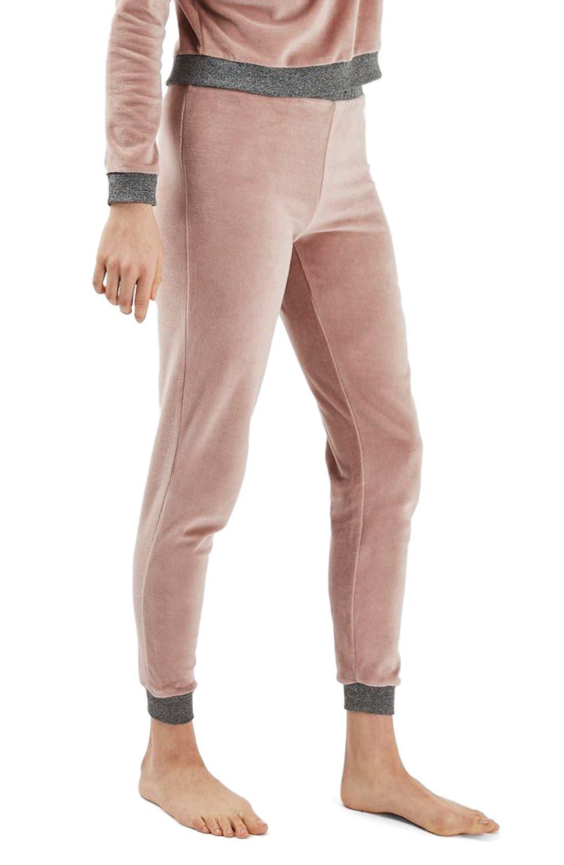 TOPSHOP Velour Lounge Pants
