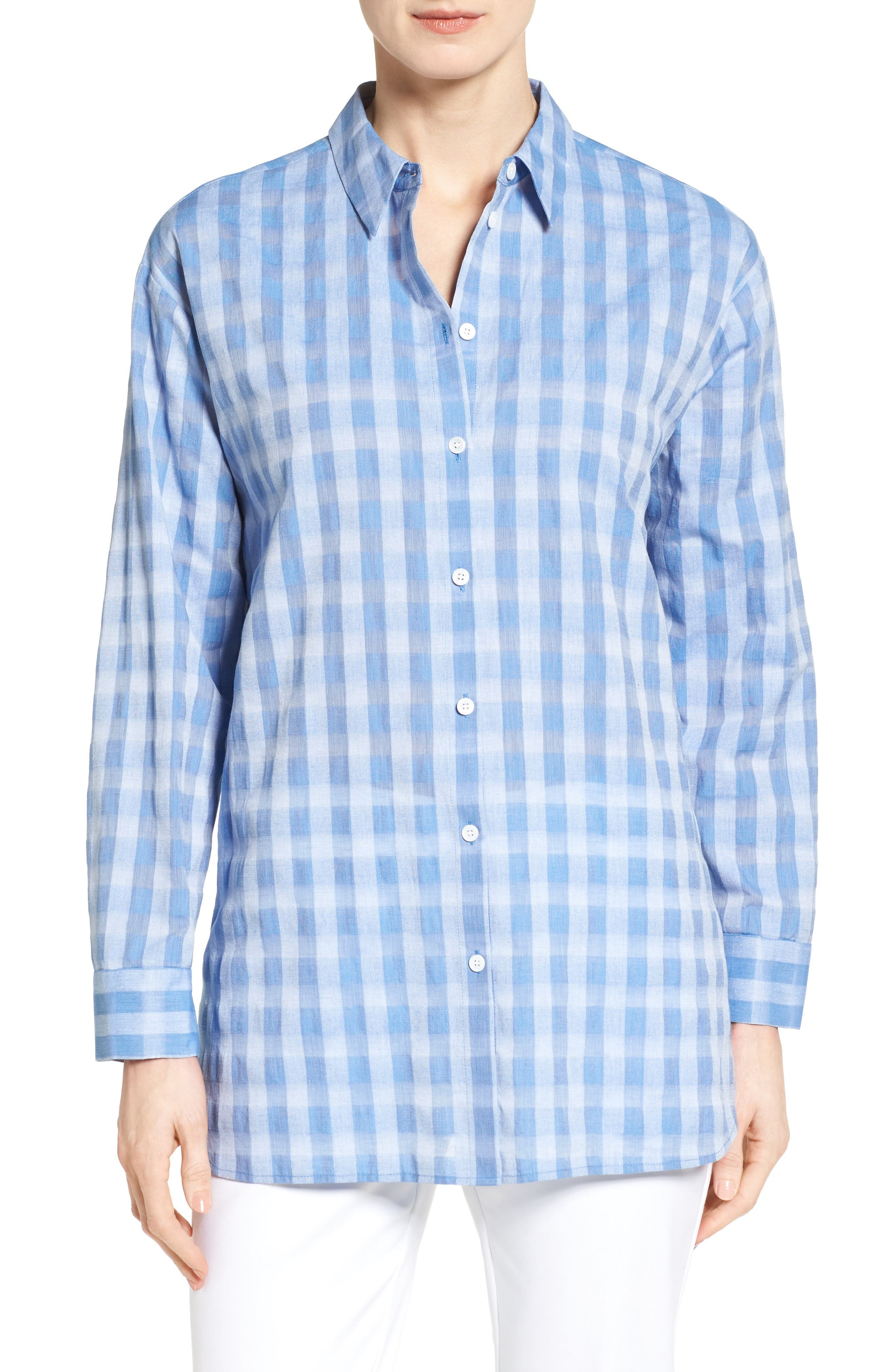 NORDSTROM COLLECTION Button Back Oversize Tunic