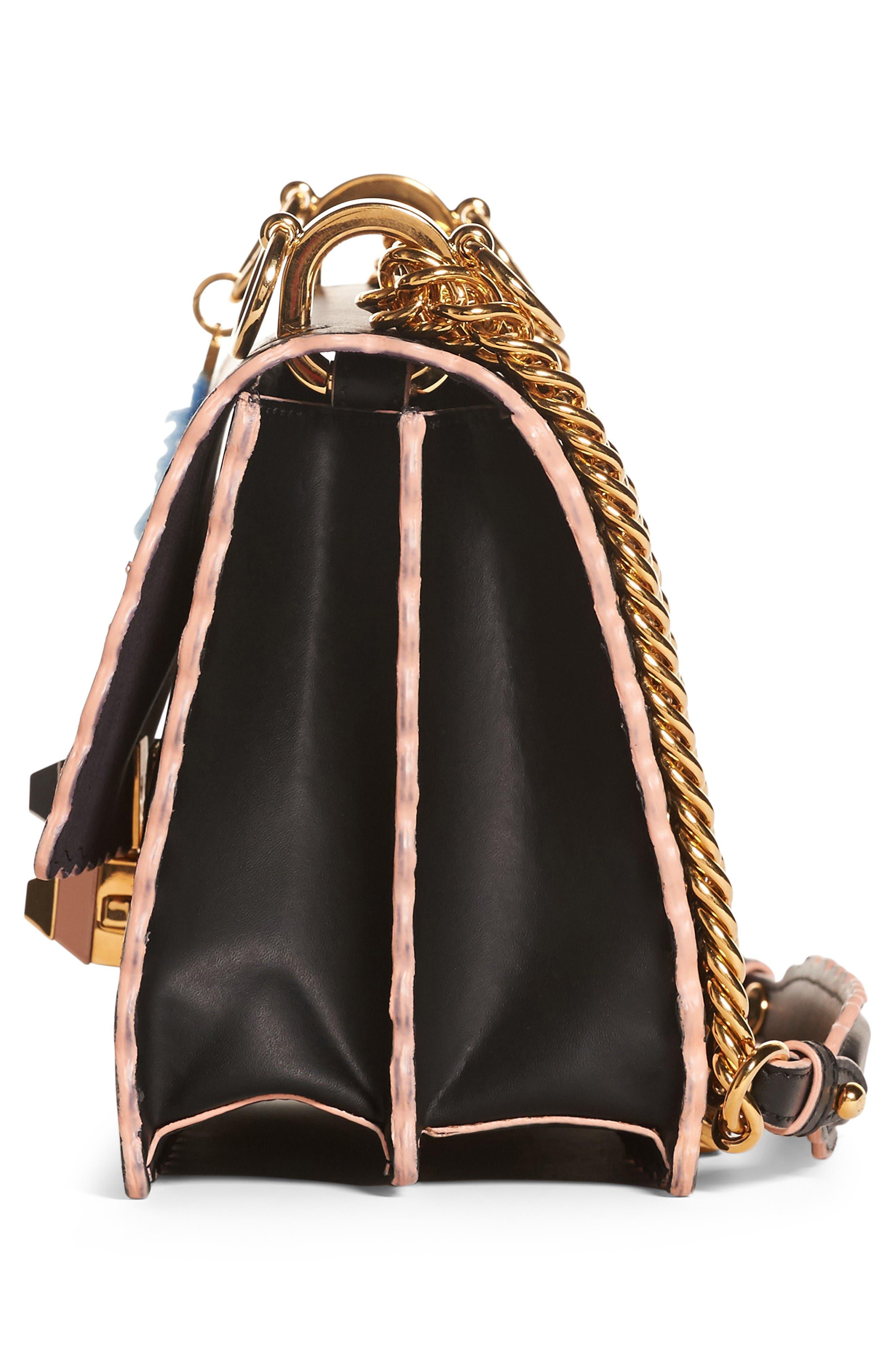 Alternate Image 4  - Fendi Small Kan I Scallop Leather Shoulder Bag