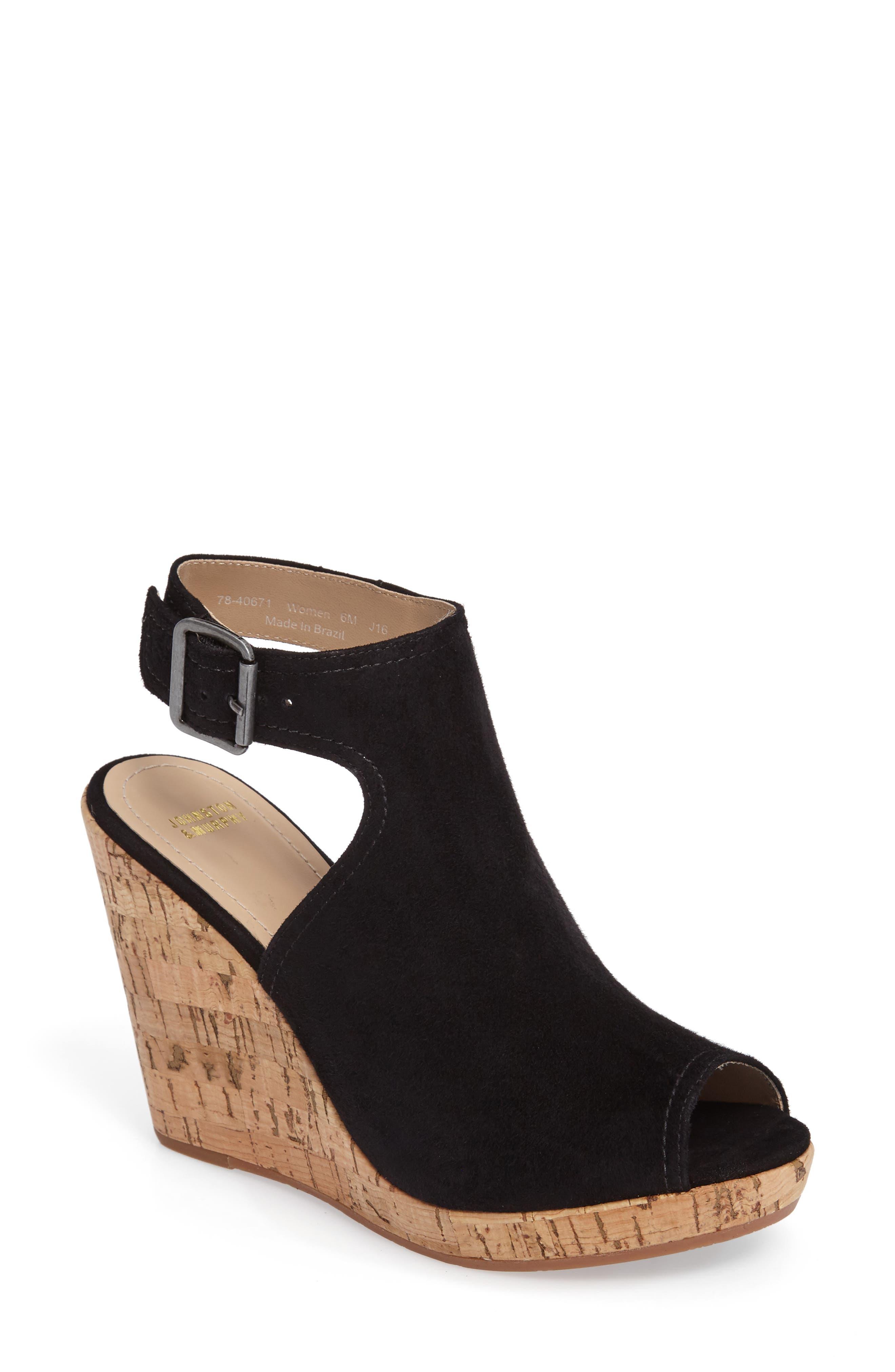 Johnston & Murphy Mila Slingback Platform Wedge Sandal (Women)