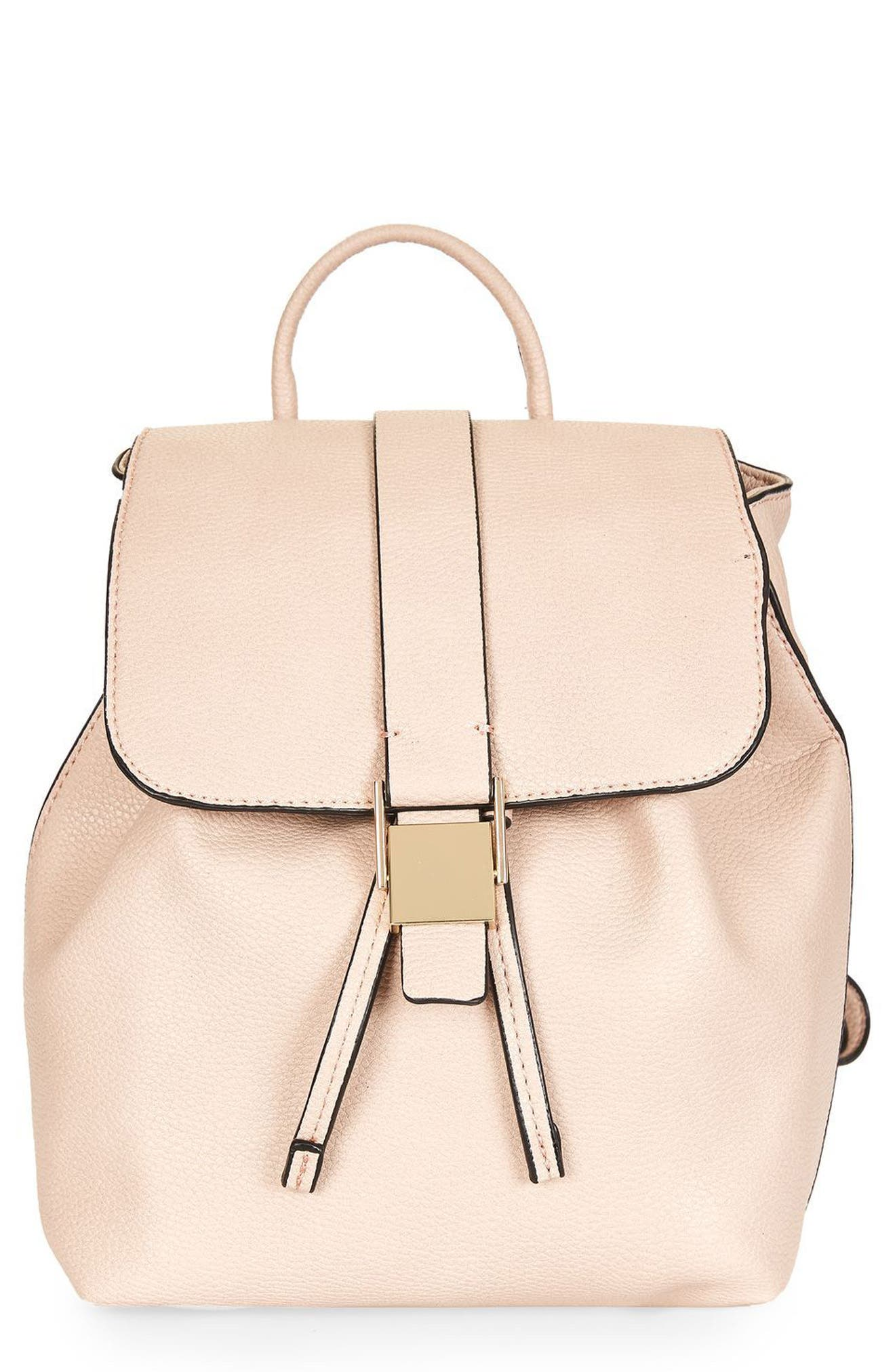 Main Image - Topshop Mini Glasgow Faux Leather Backpack