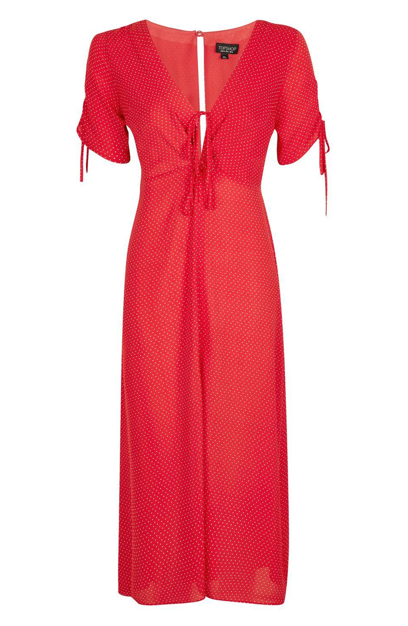 Alternate Image 5  - Topshop Spot Tea Dress