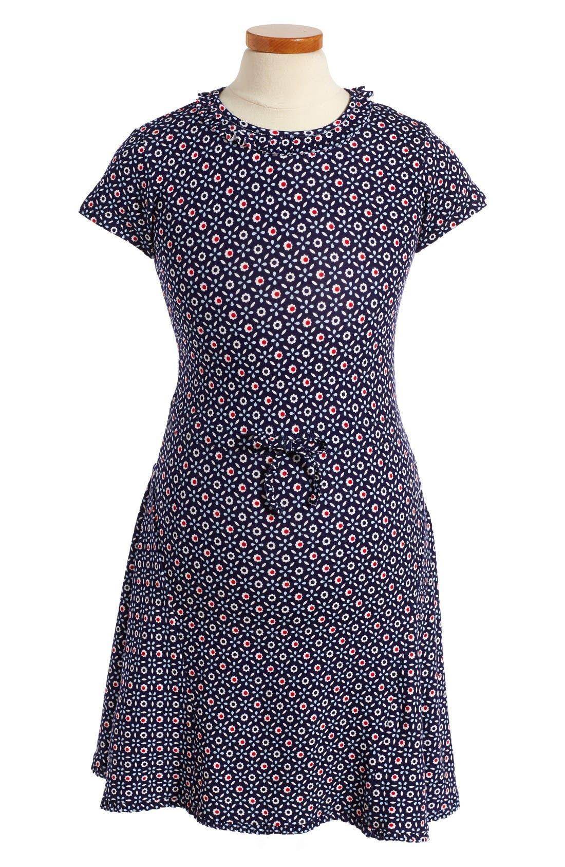 OSCAR DE LA RENTA Eyelet Daisy Print Dress