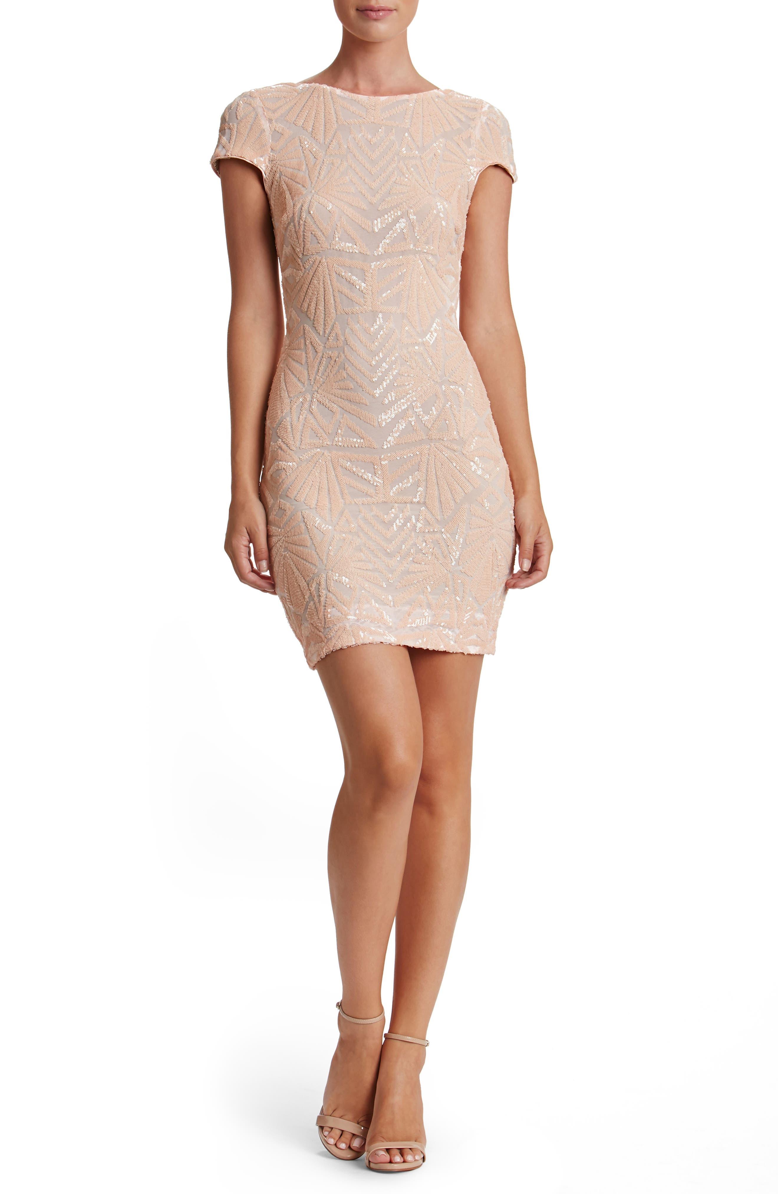 Alternate Image 5  - Dress the Population Tabitha Sequin Mesh Minidress