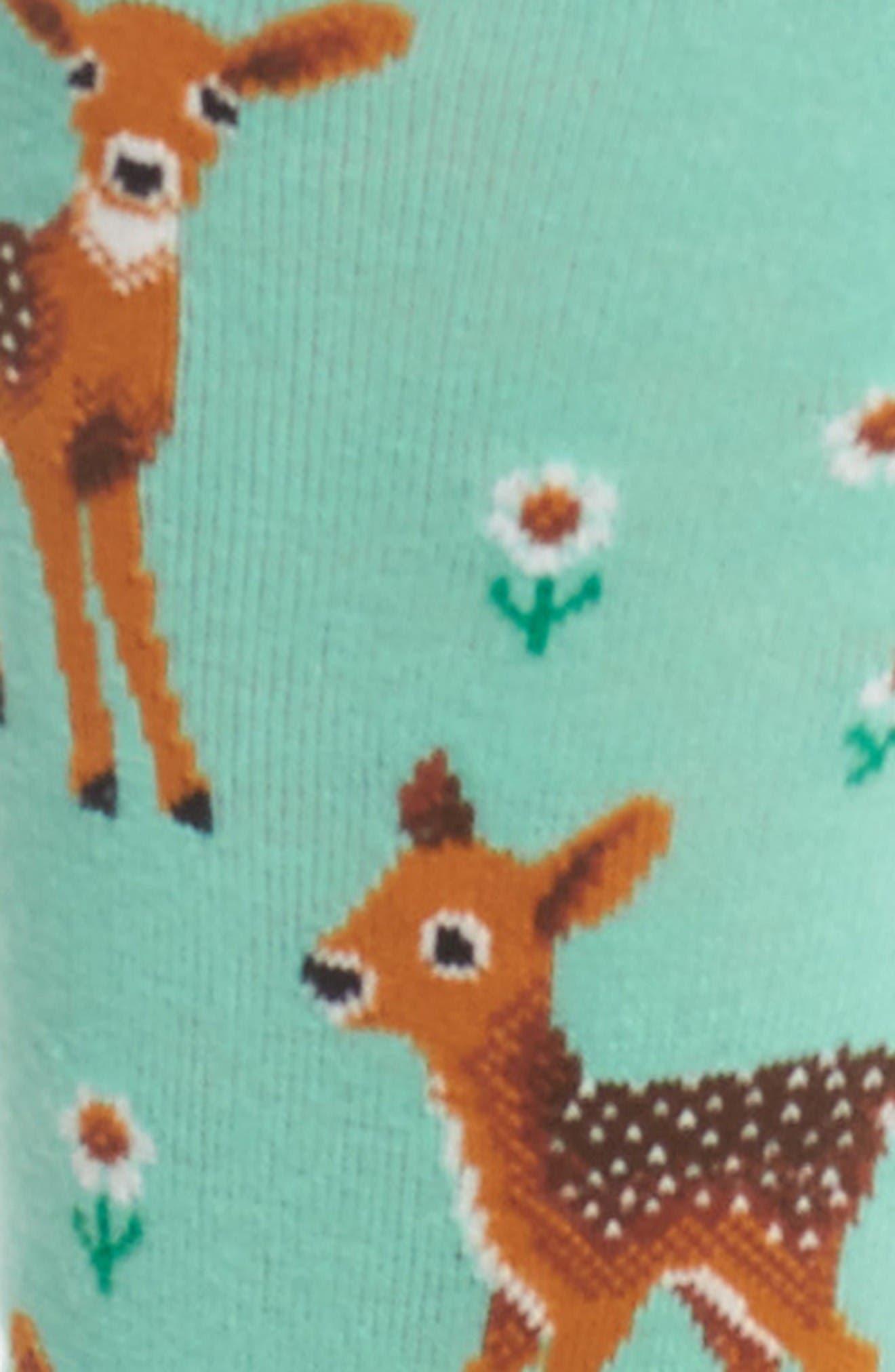 Alternate Image 2  - Hot Sox Spring Deer Crew Socks (3 for $15)