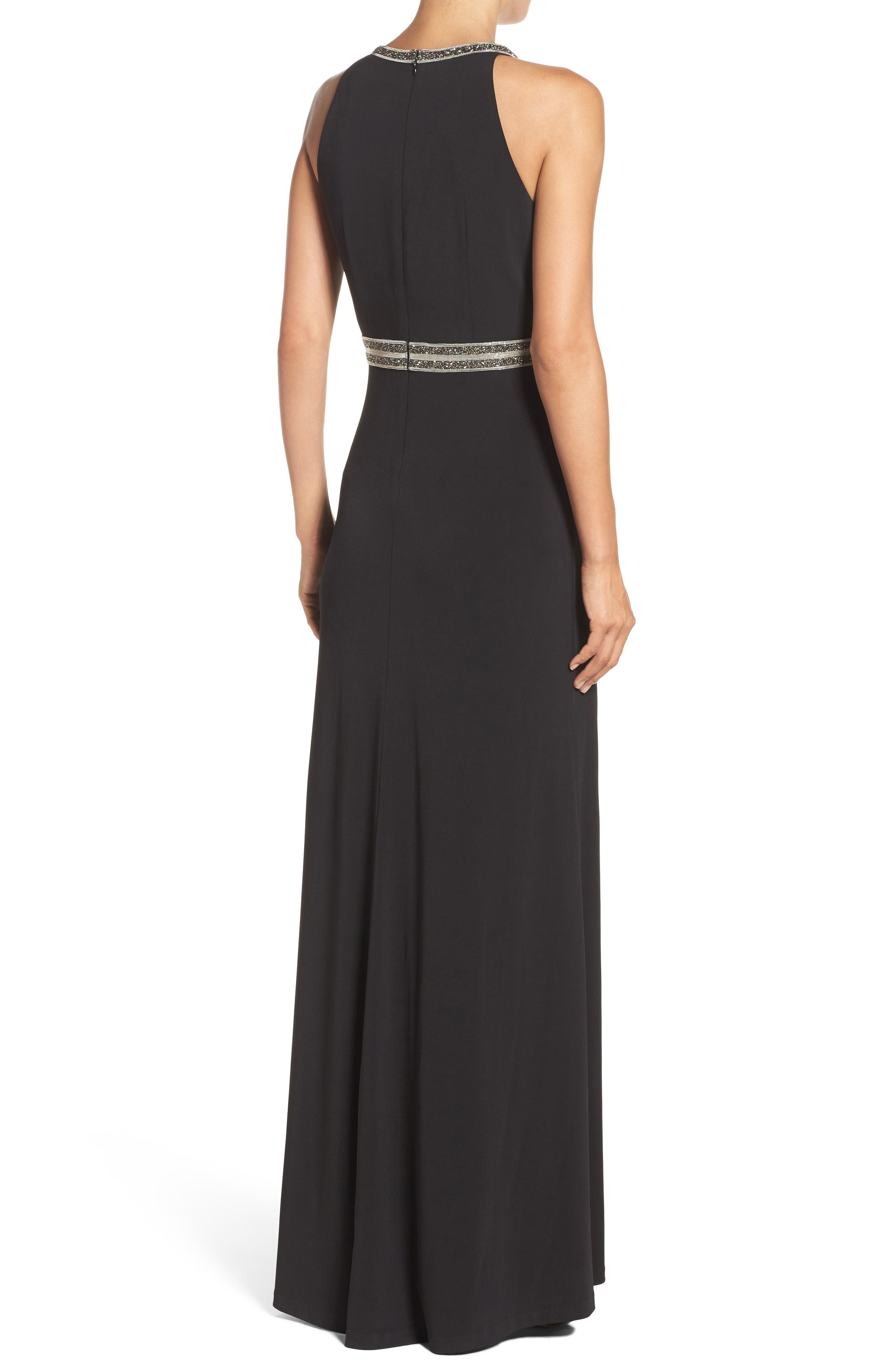 Alternate Image 2  - Vince Camuto Embellished Jersey Gown