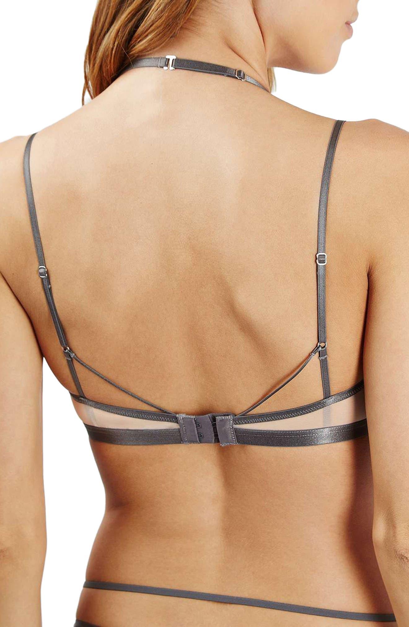 Alternate Image 2  - Topshop Strappy Lace Bralette