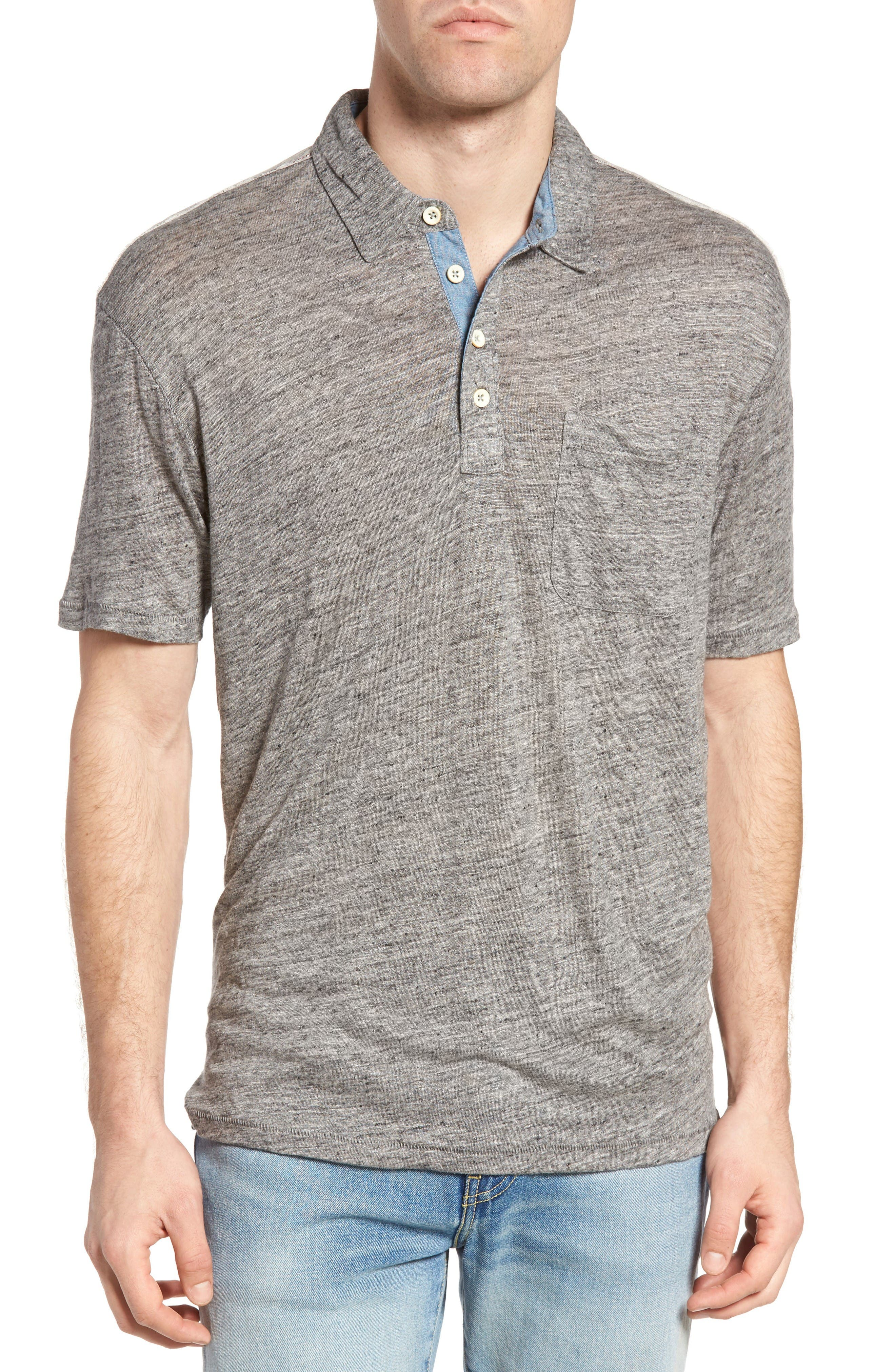 True Grit Colorblock Linen Jersey Polo