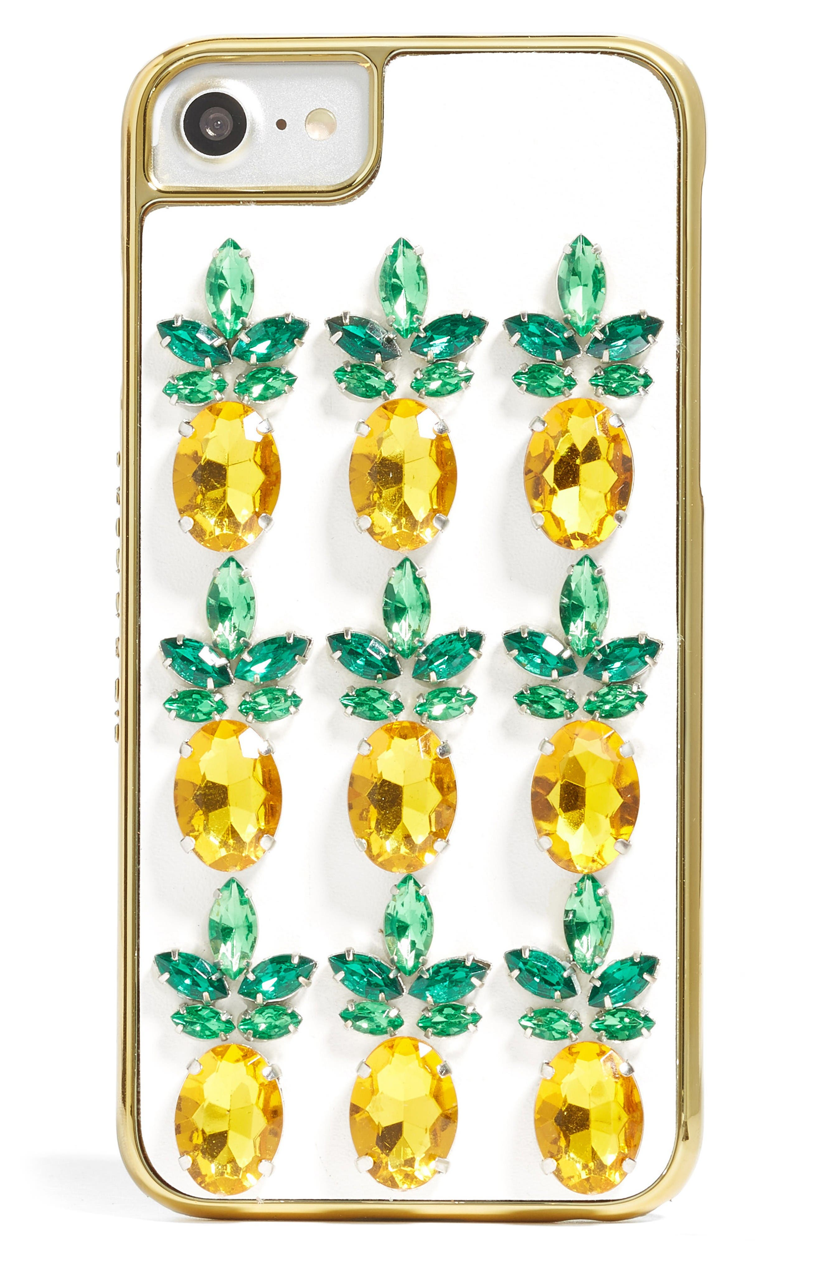 Alternate Image 1 Selected - Skinnydip Pineapple Bling iPhone Case (6/7)