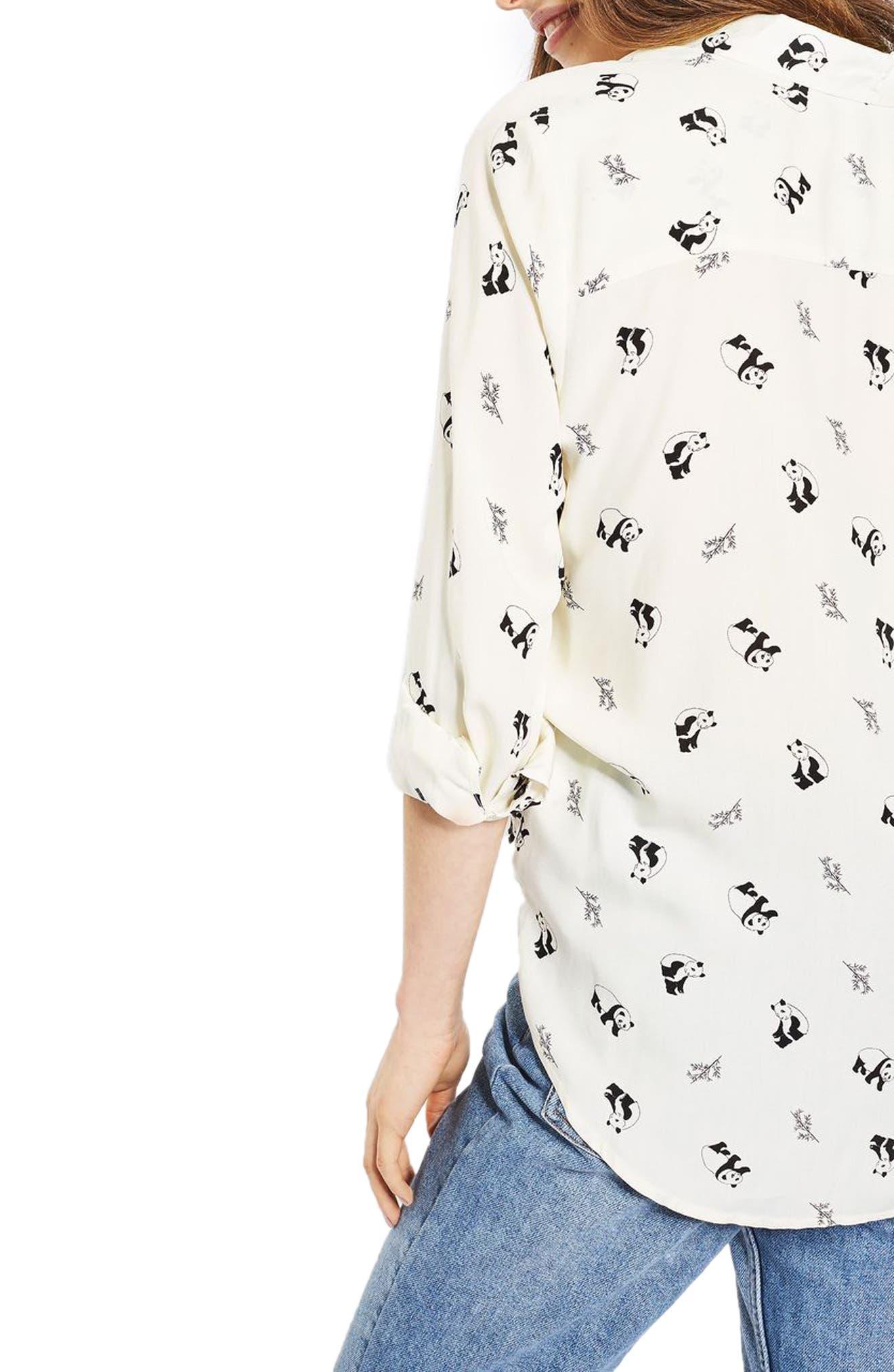 Alternate Image 3  - Topshop Panda Shirt (Regular & Petite)