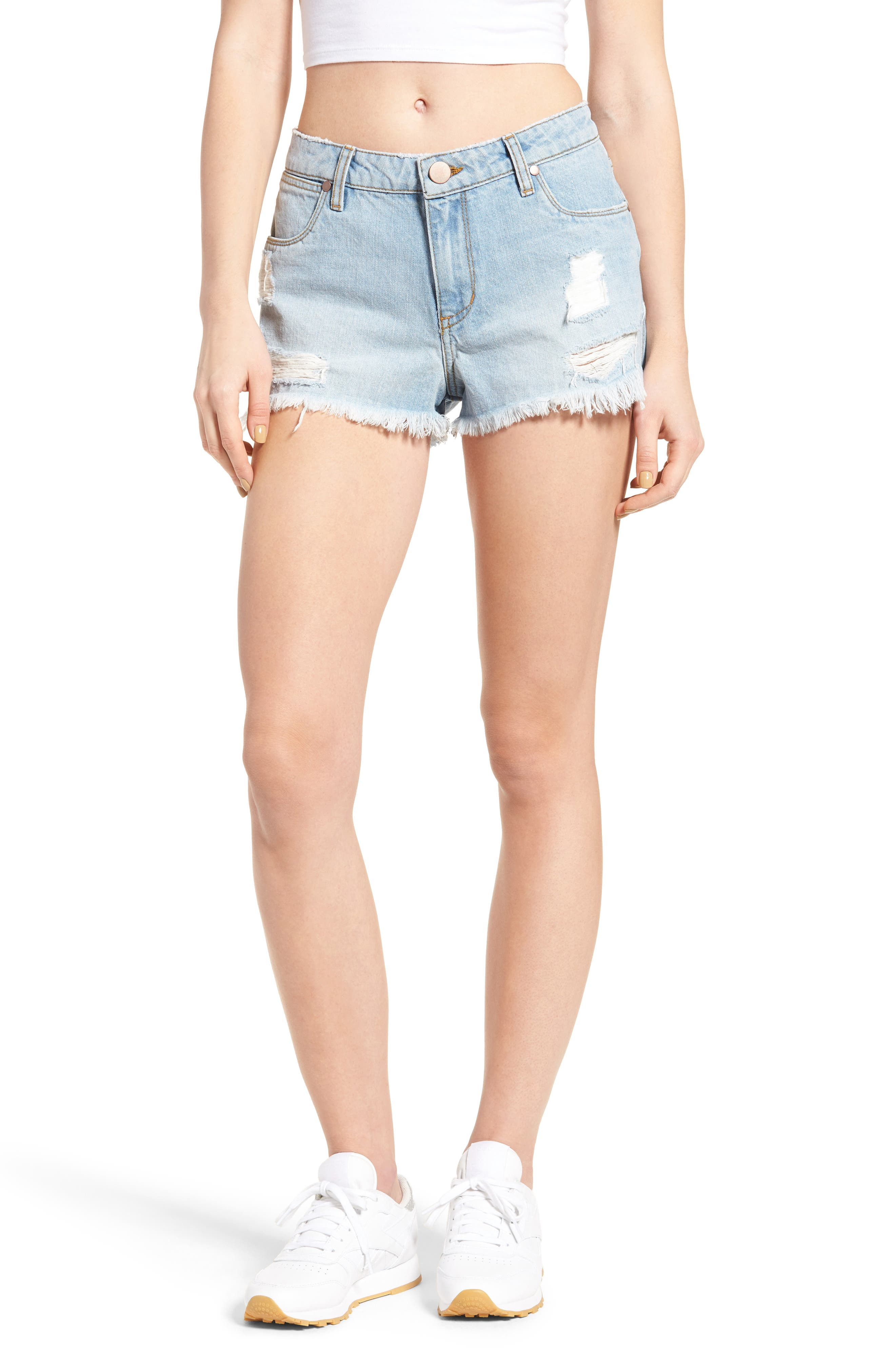 BP. Ripped Denim Cutoff Shorts