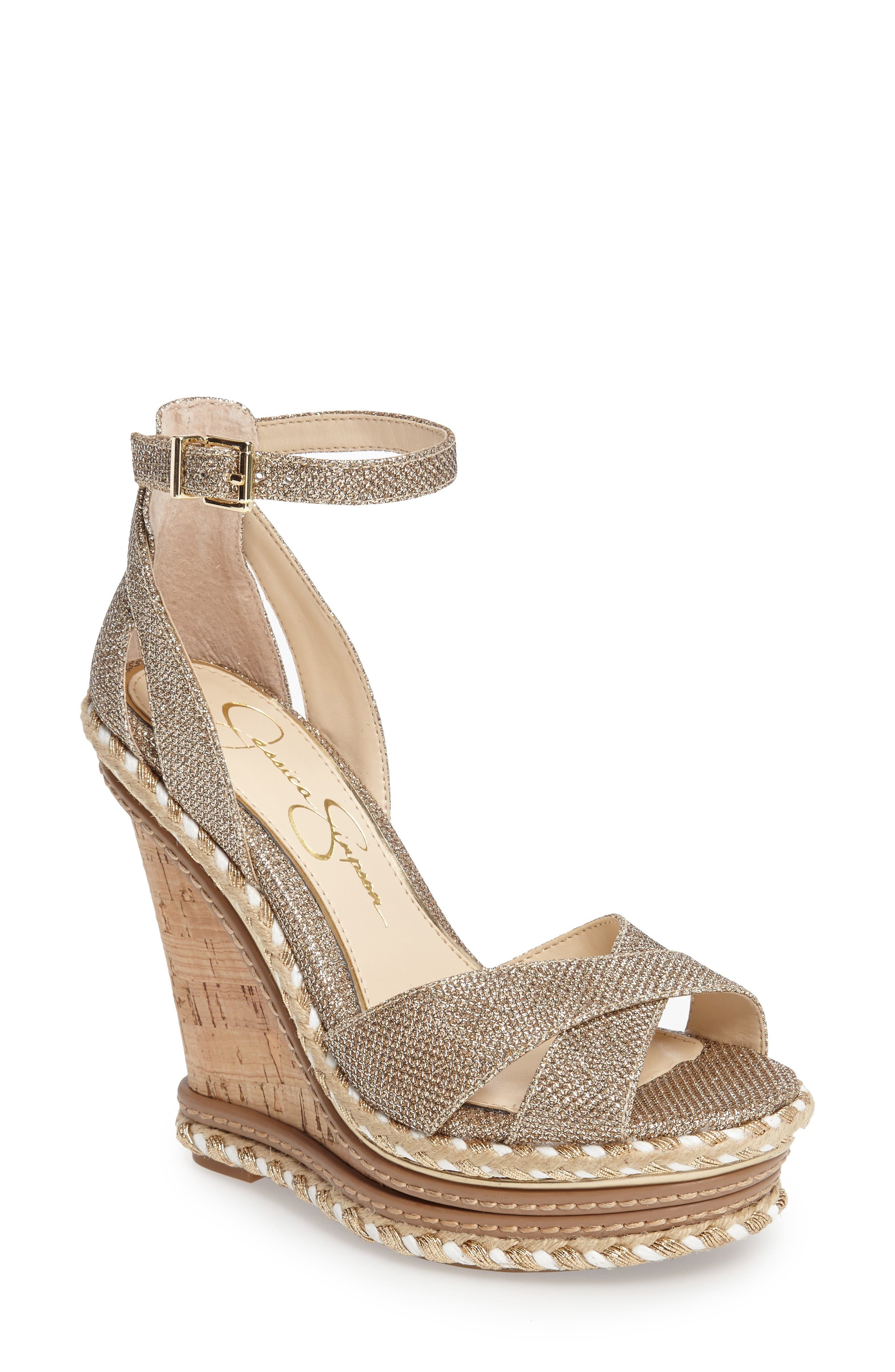 Jessica Simpson Ahnika Platform Wedge Sandal (Women)