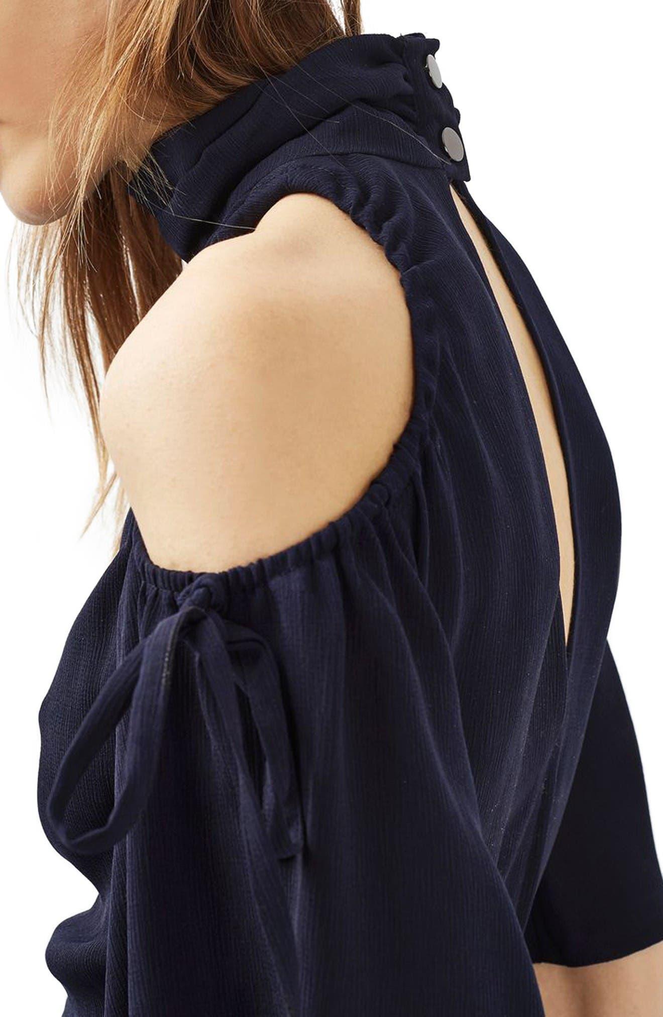 Alternate Image 5  - Topshop High Neck Cold Shoulder Dress