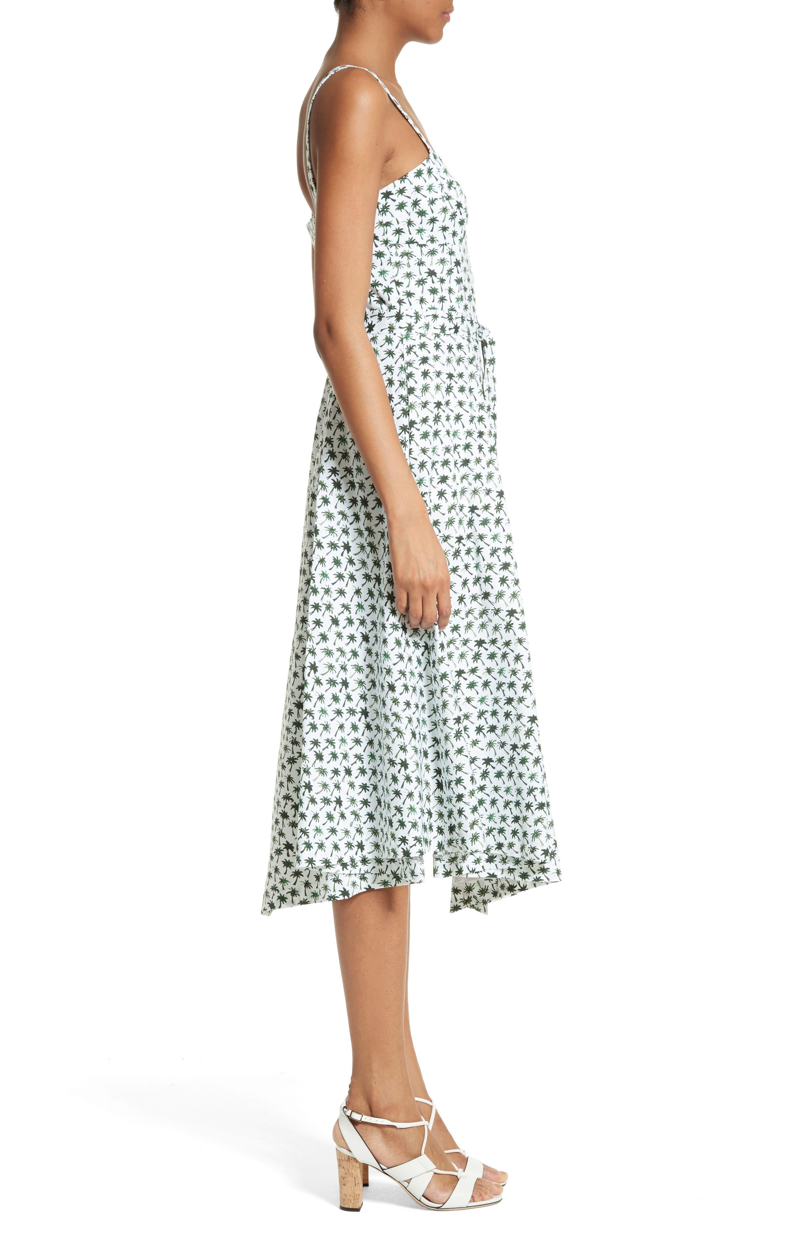 Alternate Image 3  - Milly Bambino Palm Print Midi Dress
