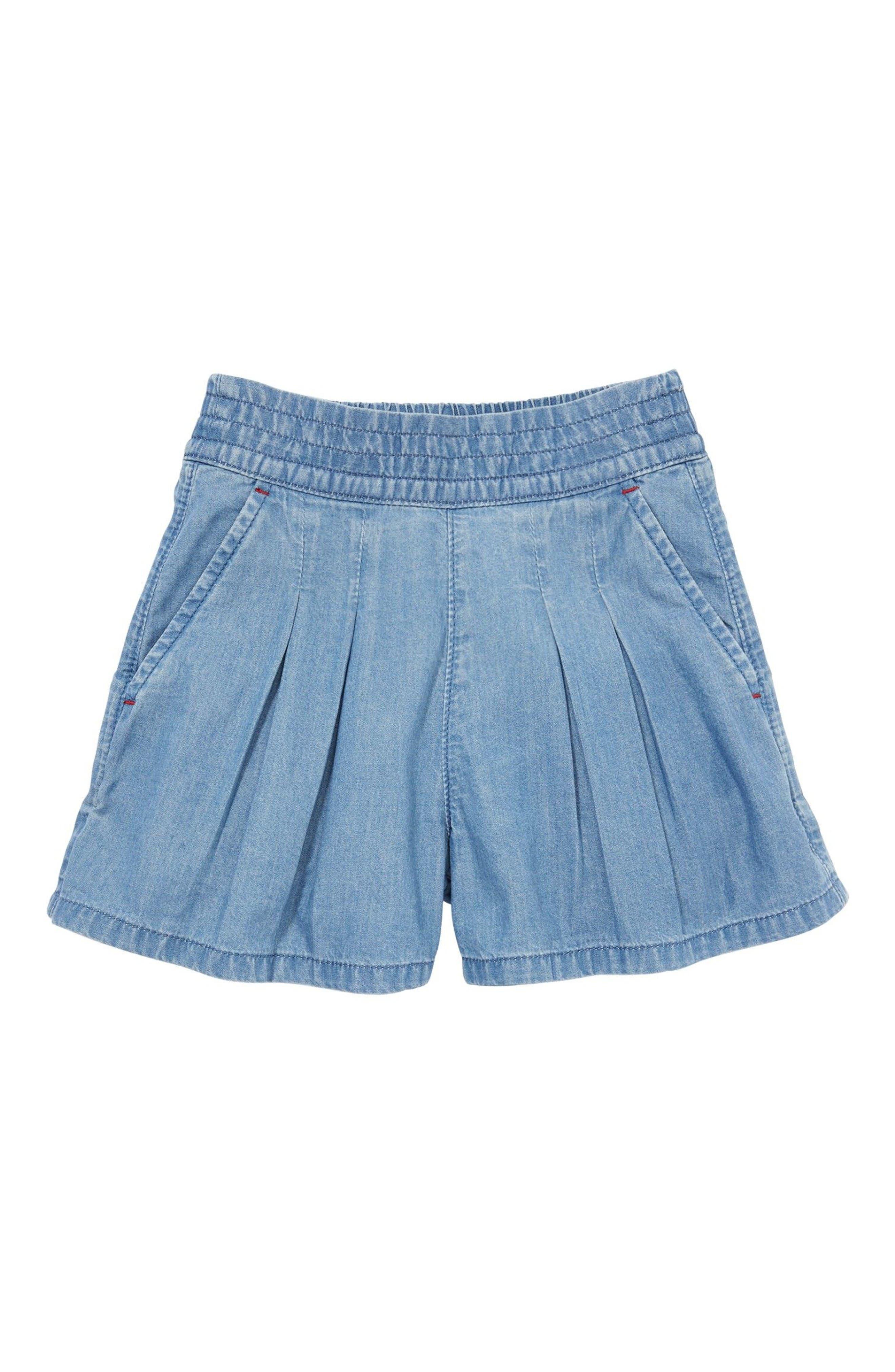 Mini Boden Pull-On Denim Shorts (Toddler Girls, Little Girls & Big Girls)