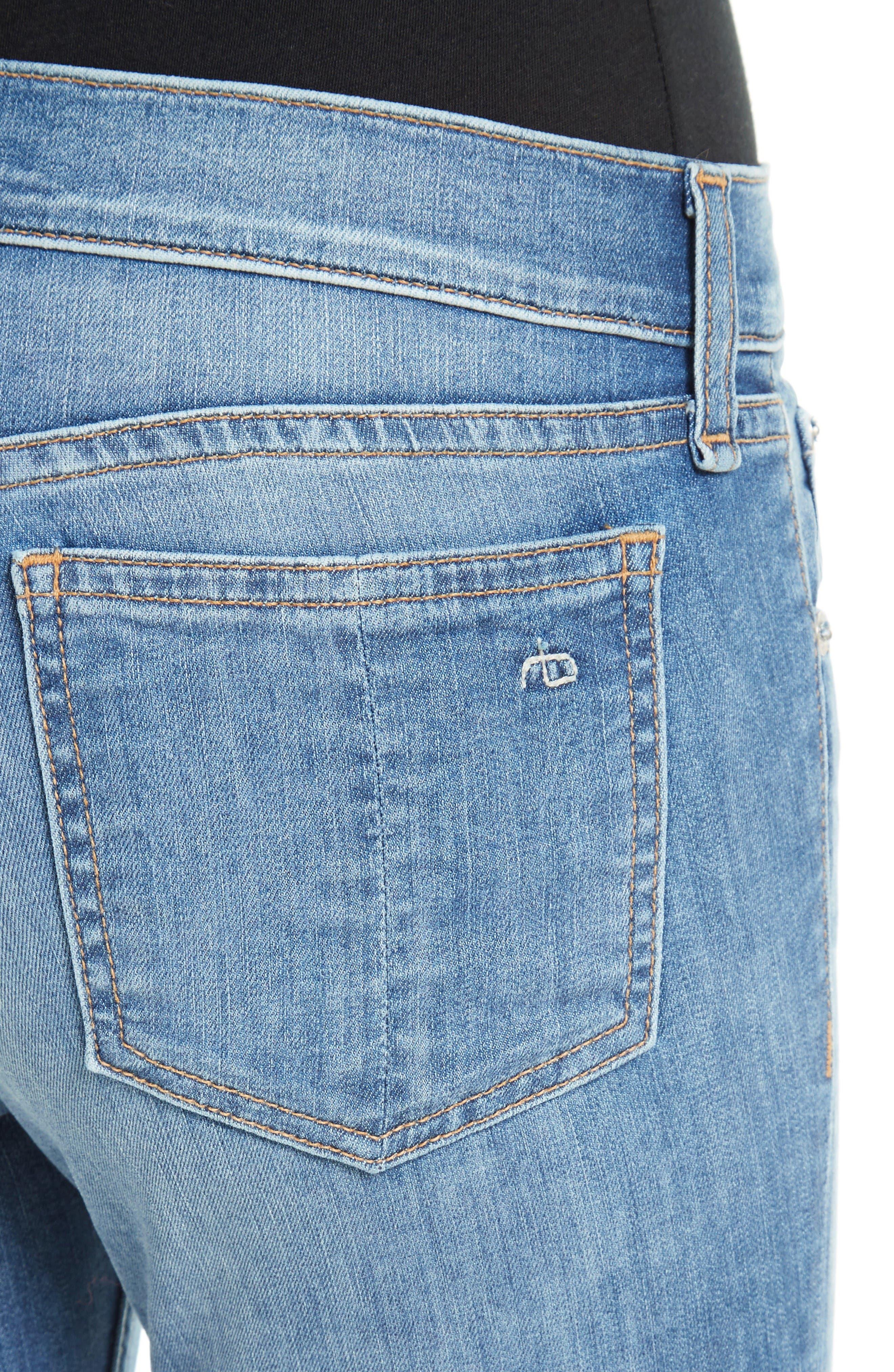 Alternate Image 4  - rag & bone/JEAN Capri Skinny Jeans (Clean Lilly Dale)