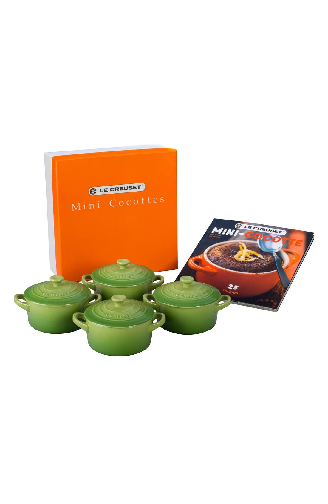 Le Creuset Four Mini Cocottes with Cookbook