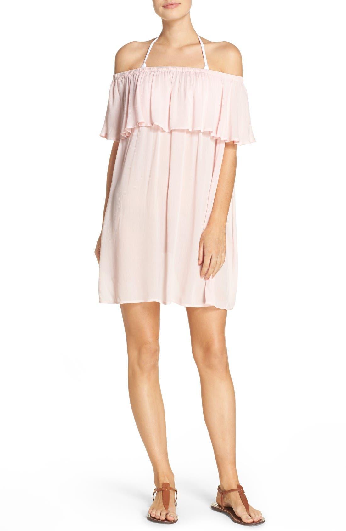 Hinge Off the Shoulder Cover-Up Dress