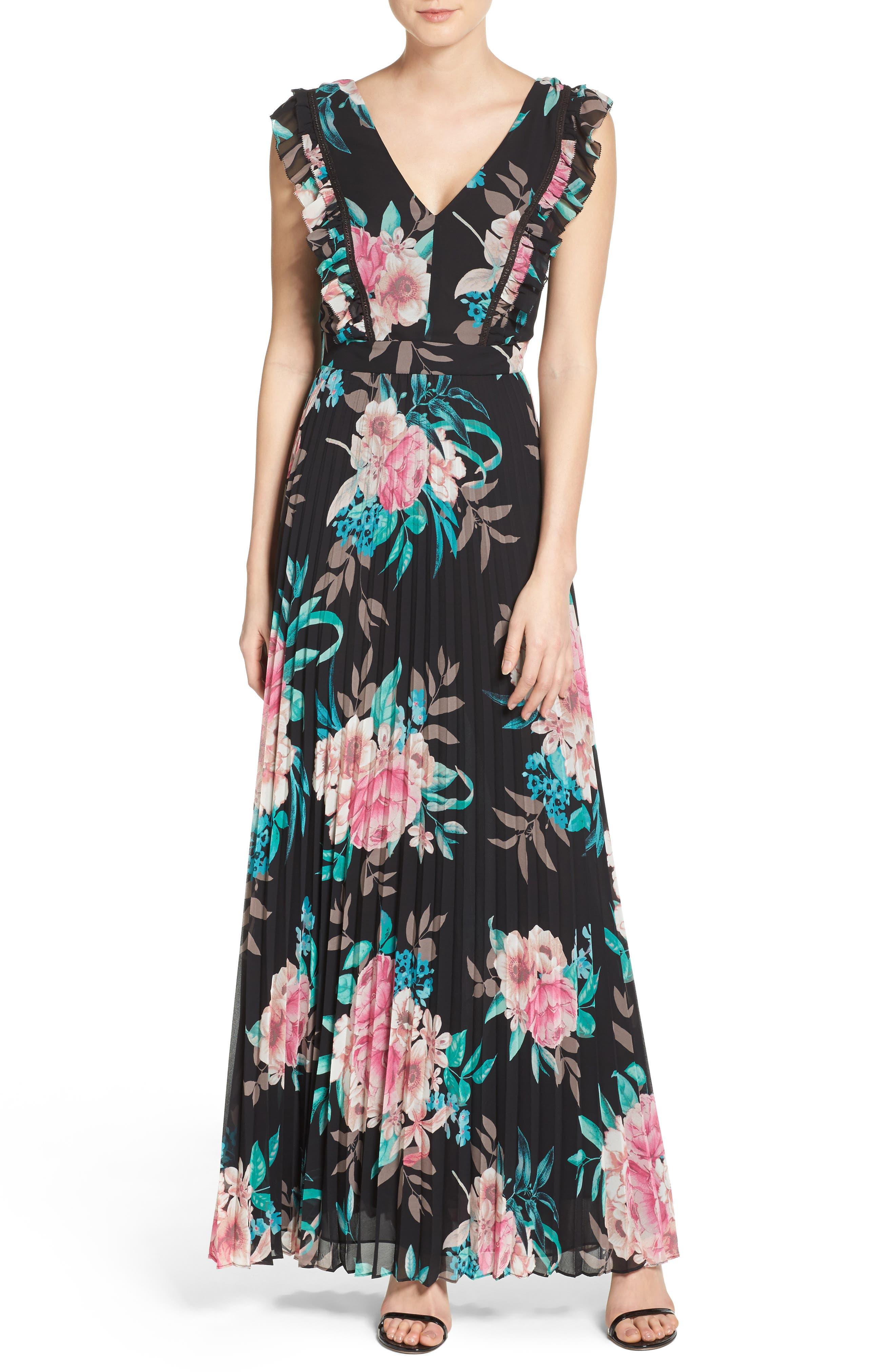 Alternate Image 1 Selected - Eliza J Ruffle Maxi Dress