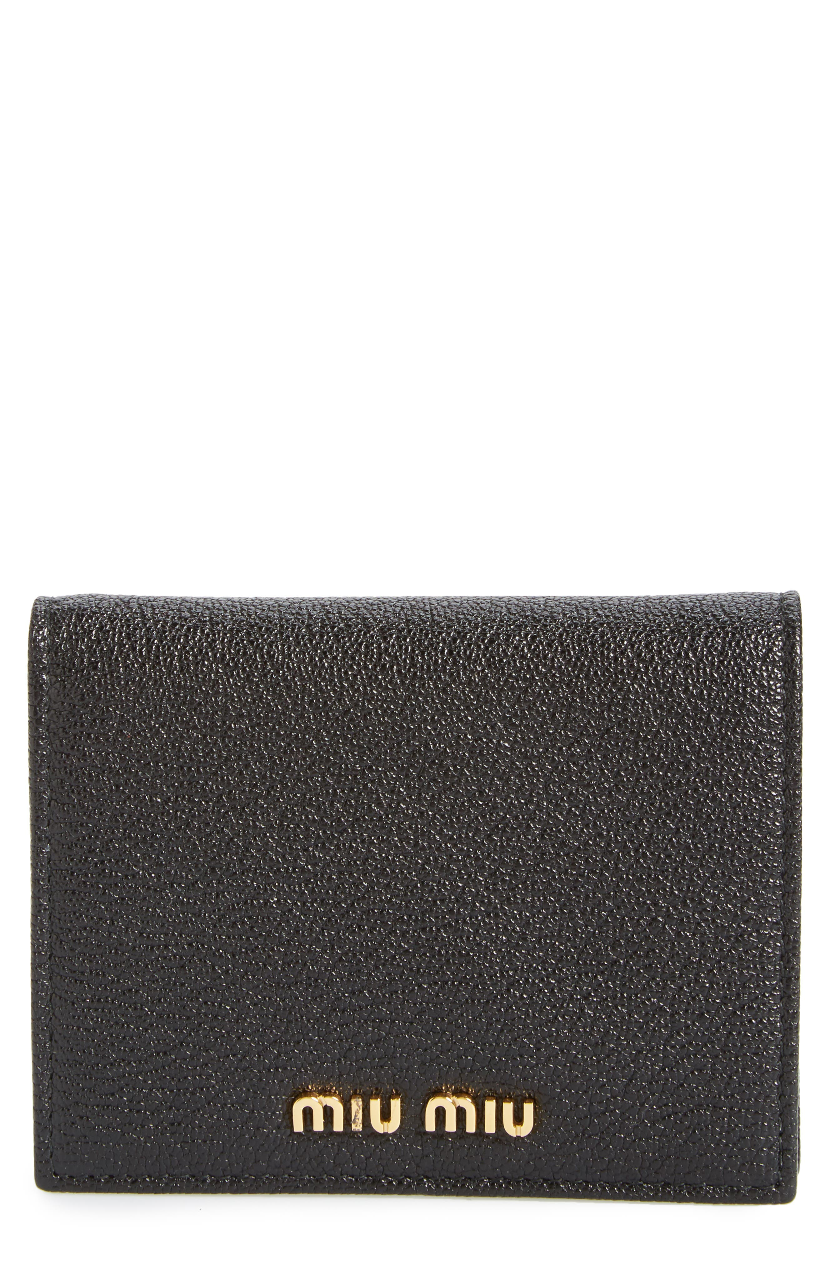 Miu Miu Madras Leather French Wallet