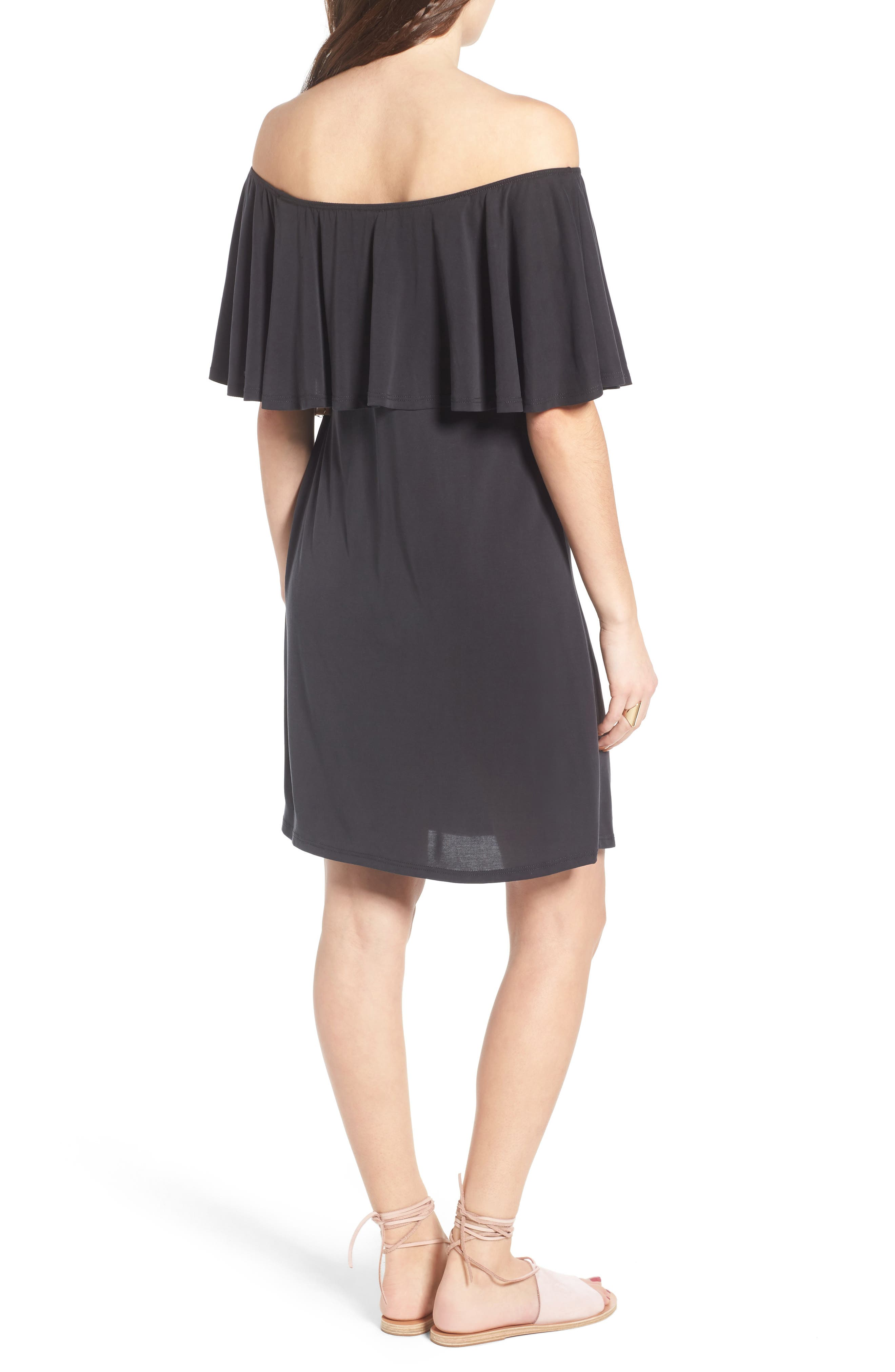 Alternate Image 2  - BP. Off the Shoulder Ruffle Dress