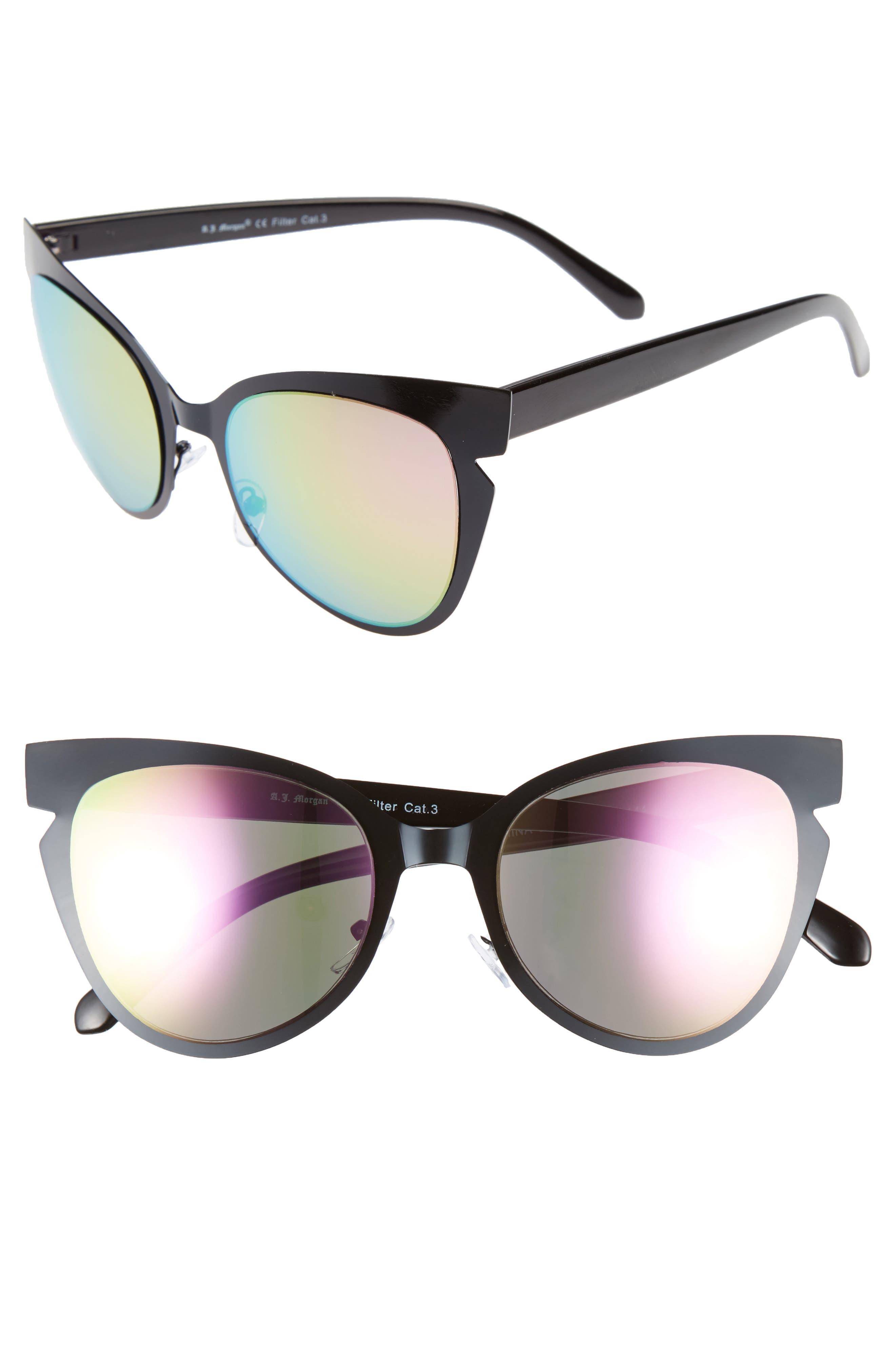 A.J. MORGAN Buns 53mm Cat Eye Sunglasses
