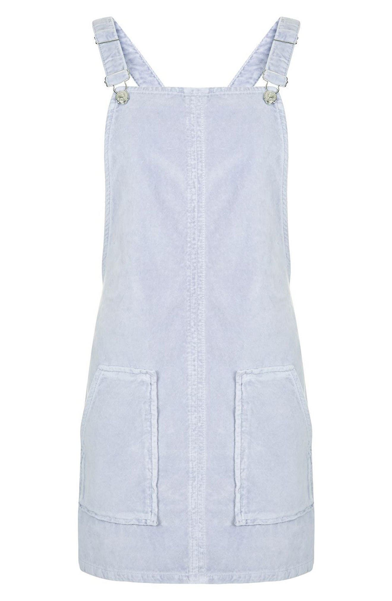 Alternate Image 4  - Topshop Velvet Pinafore Dress
