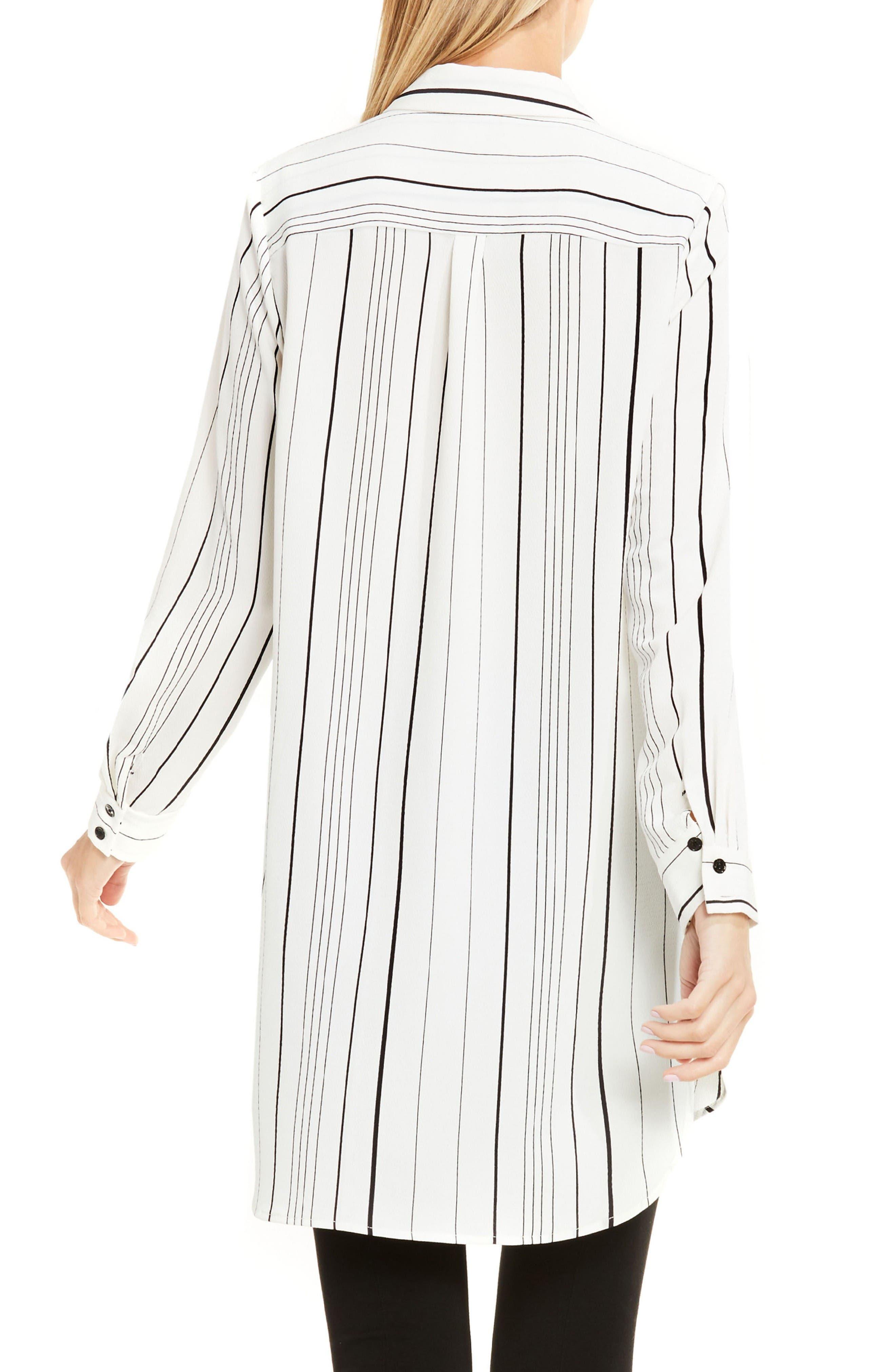 Alternate Image 2  - Vince Camuto Pencil Stripe Tunic Shirt