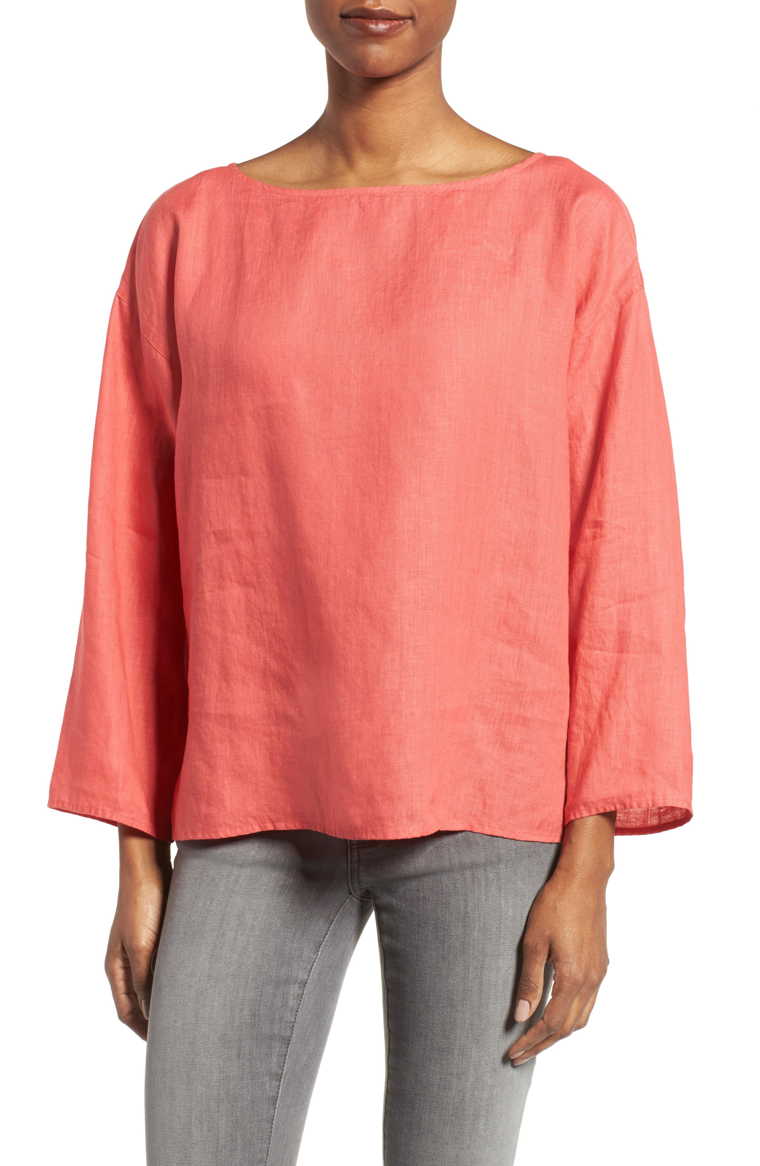 Eileen Fisher Organic Handkerchief Linen Top (Regular & Petite)